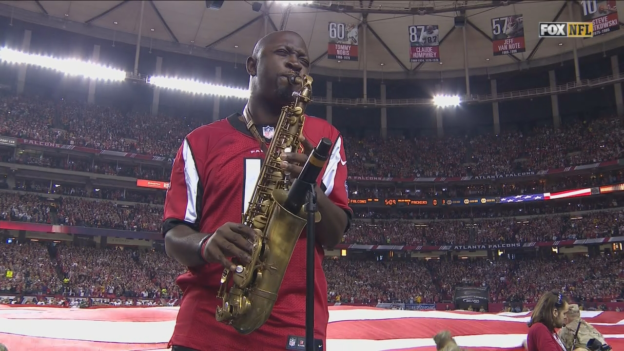 The sax anthem prior to Falcons playoff games has been the best