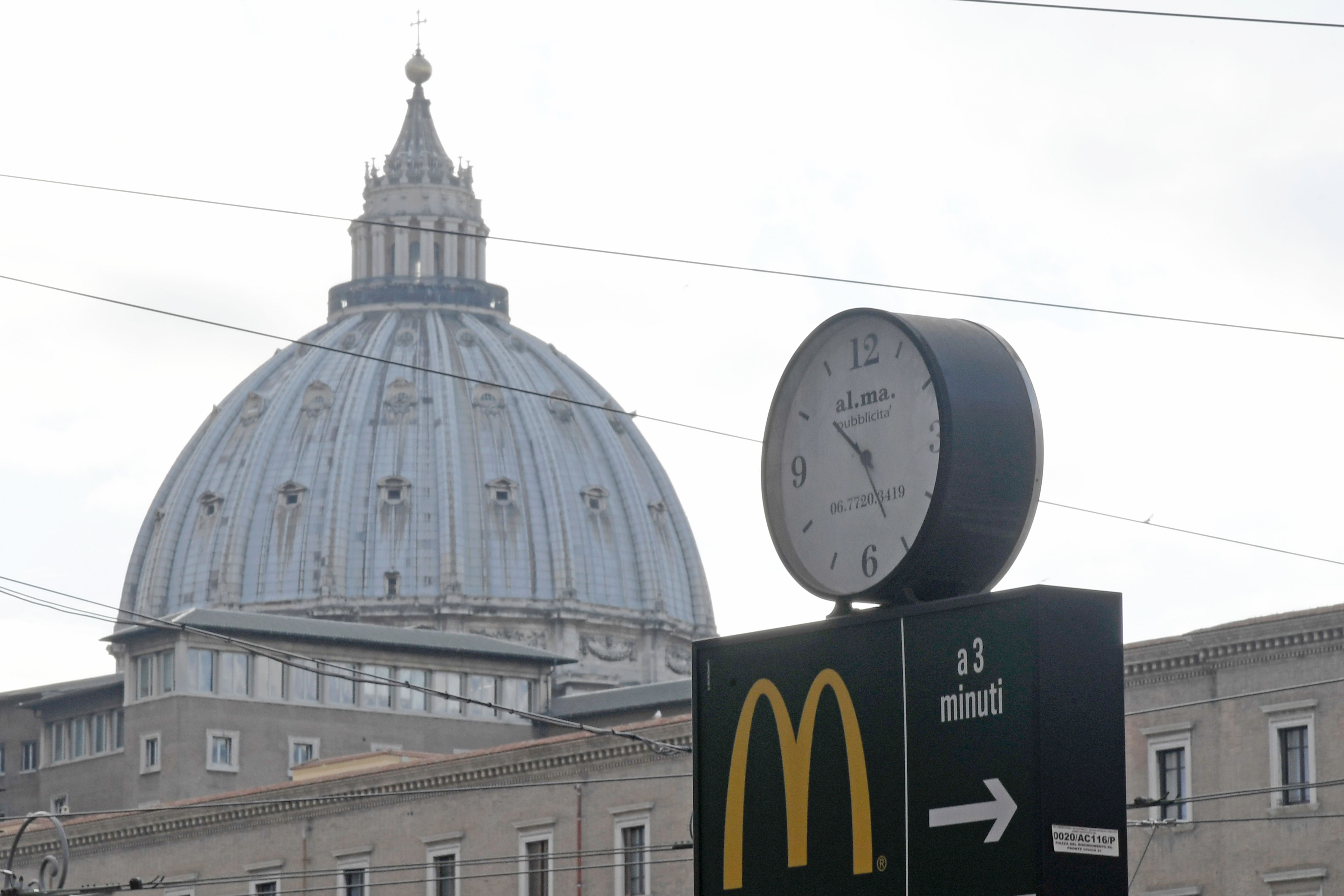 A recently opened McDonald's near the Vatican in Rome