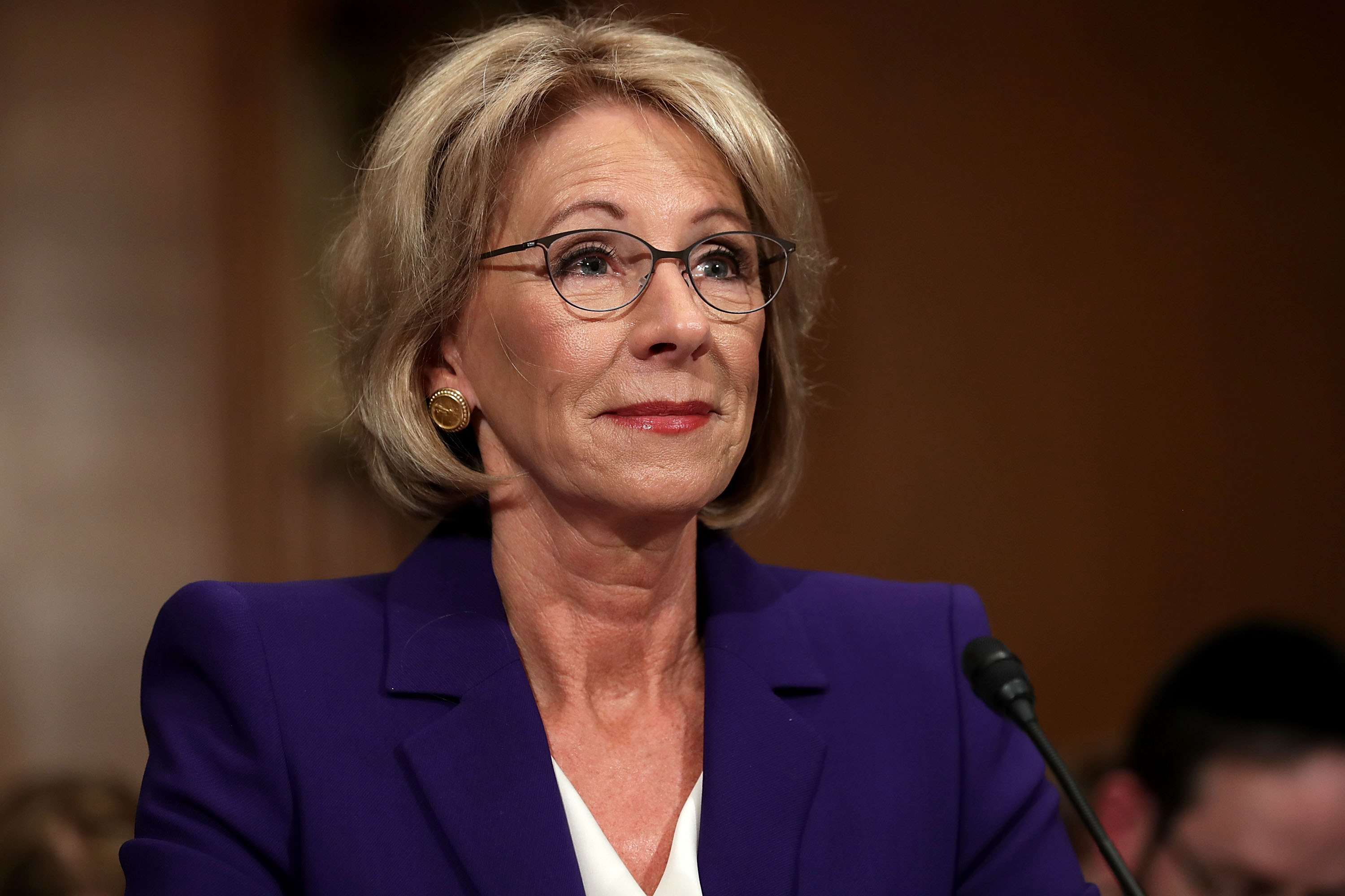 Education Secretary Betsy Devos >> Betsy Devos Was Asked A Basic Question About Education Policy And