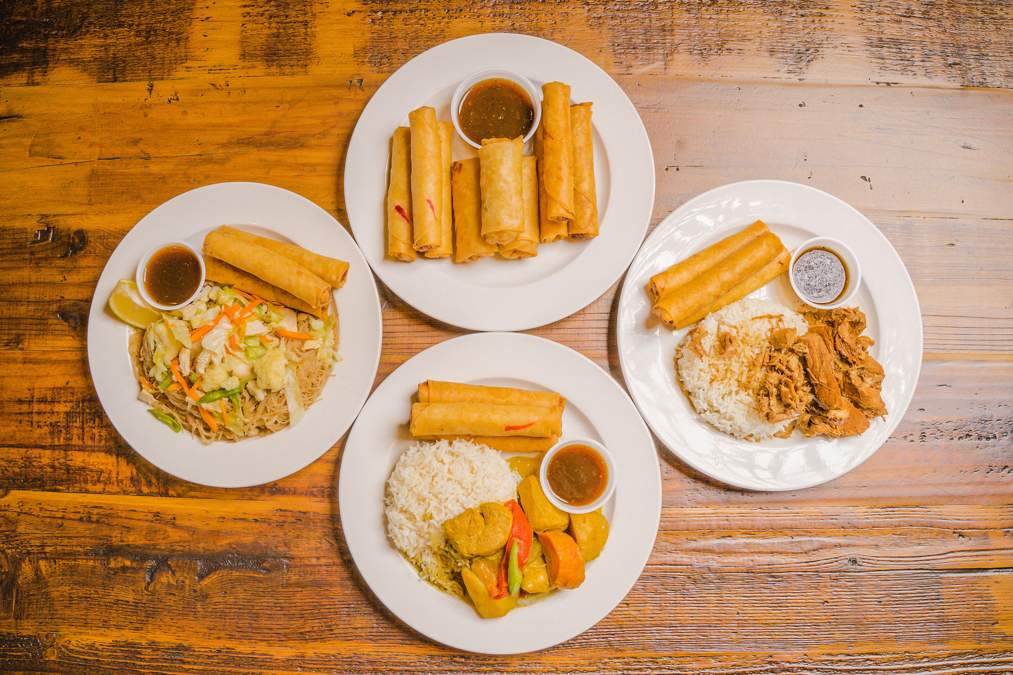 Filipino dishes from Elsie's Egg Rolls