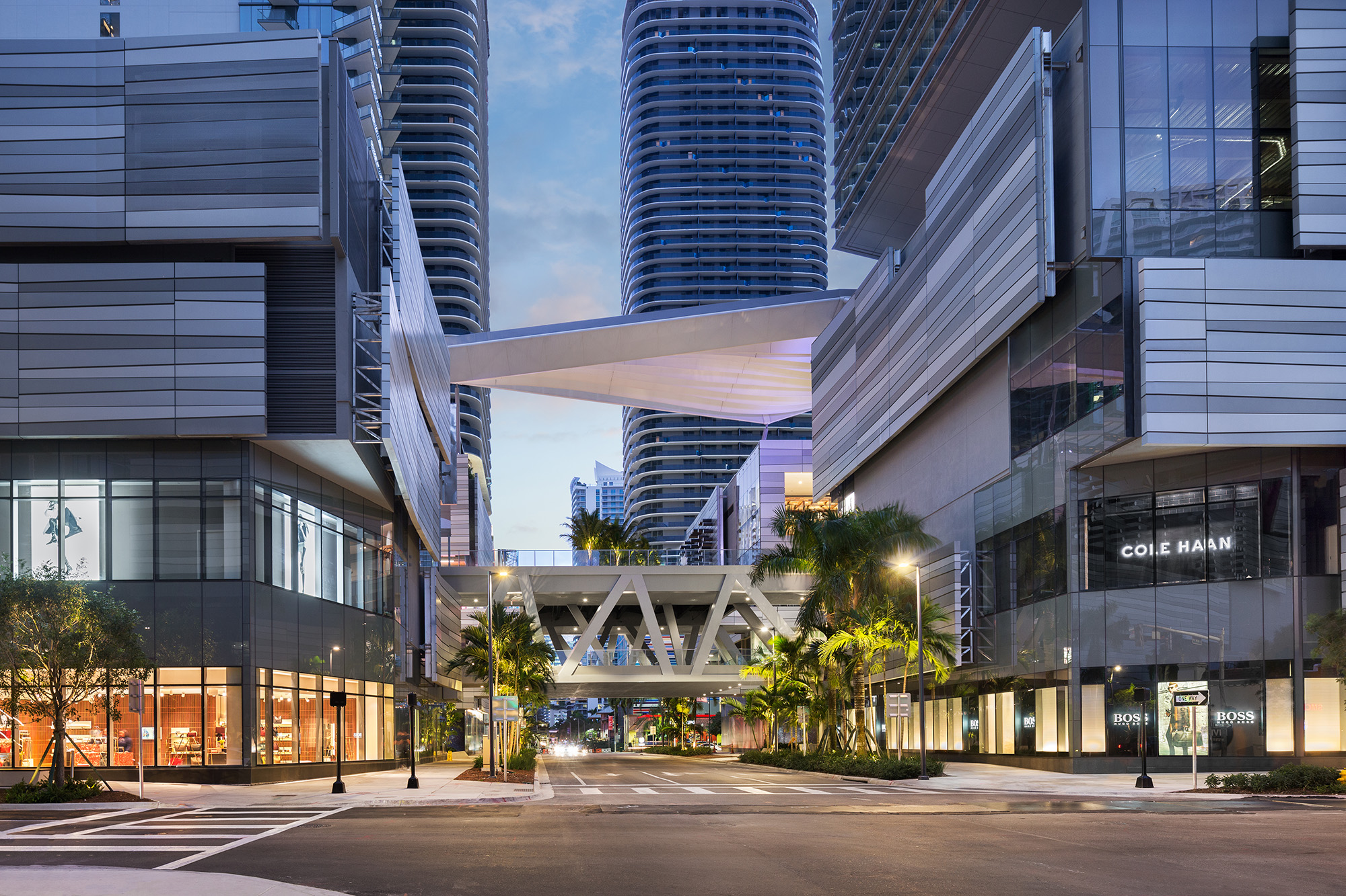 A street view of Brickell City Centre, a new goliath development in the heart of Miami