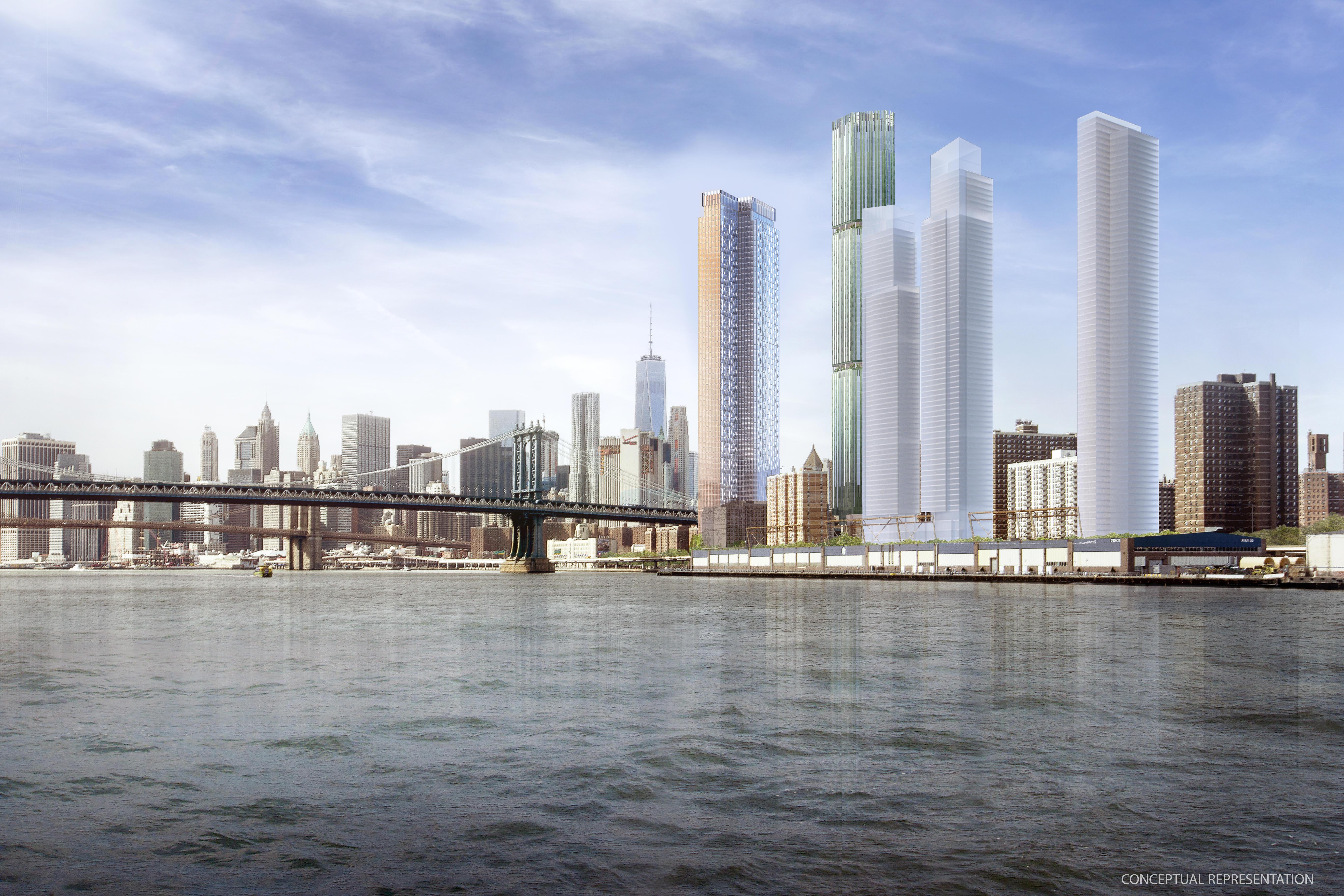 Two Bridges waterfront skyscrapers