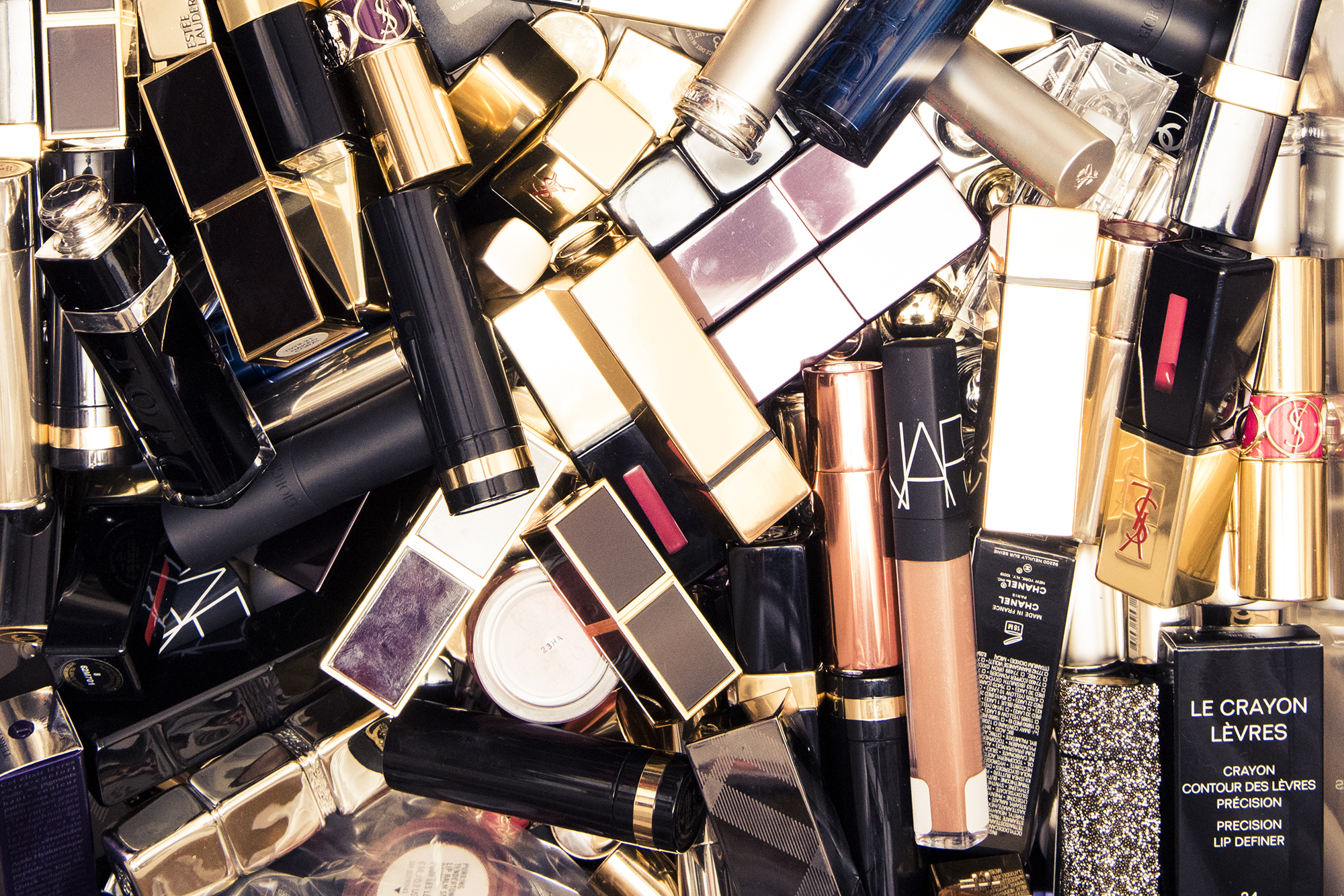 Close-up of cosmetic products.