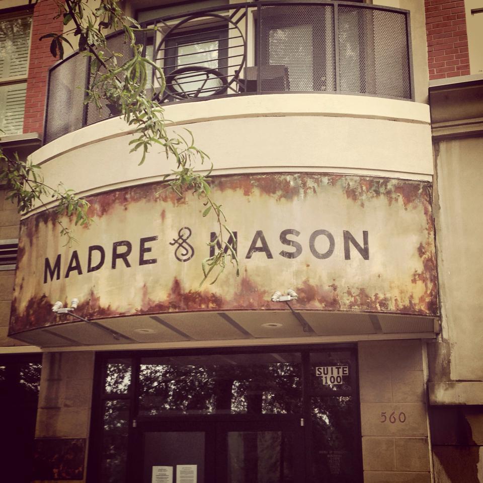 Signage at Madre + Mason