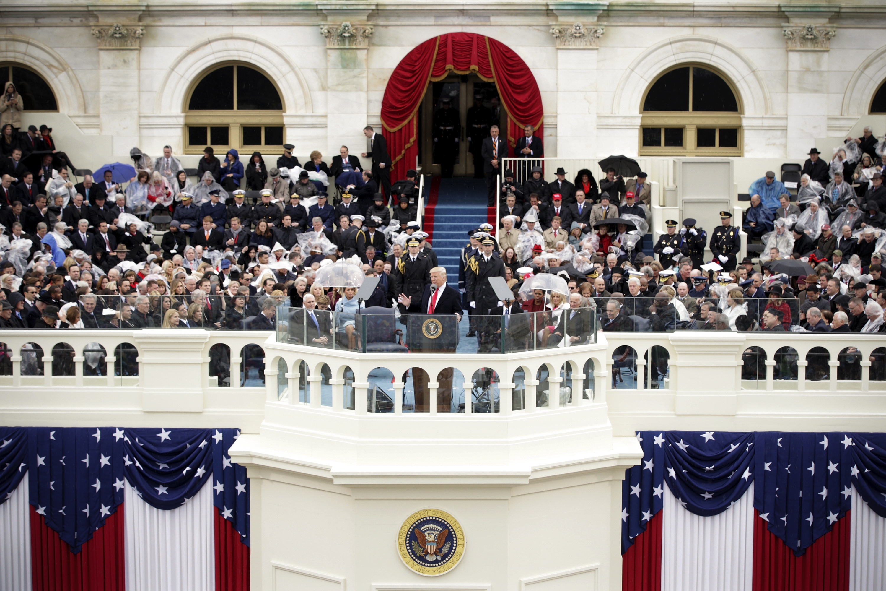 Trump could have reached out in his inaugural address. Instead, he spoke to his loyalists.
