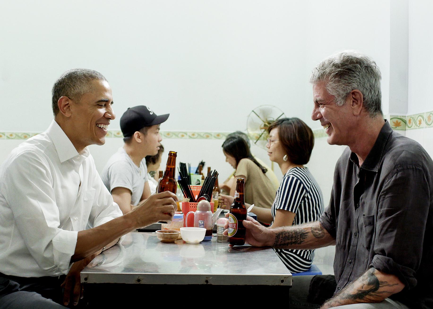 President Obama and Anthony Bourdain.