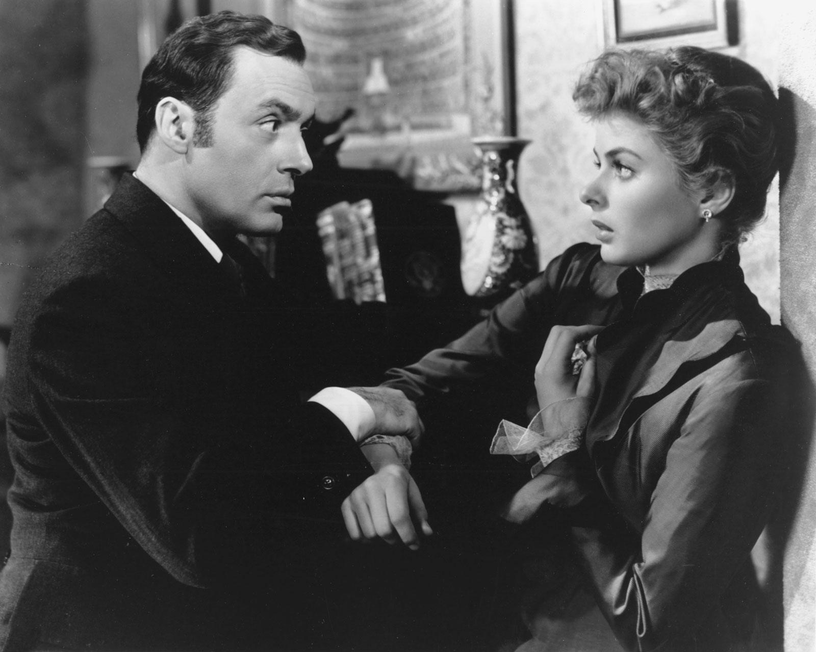 Charles Boyer and Ingrid Bergman in Gaslight