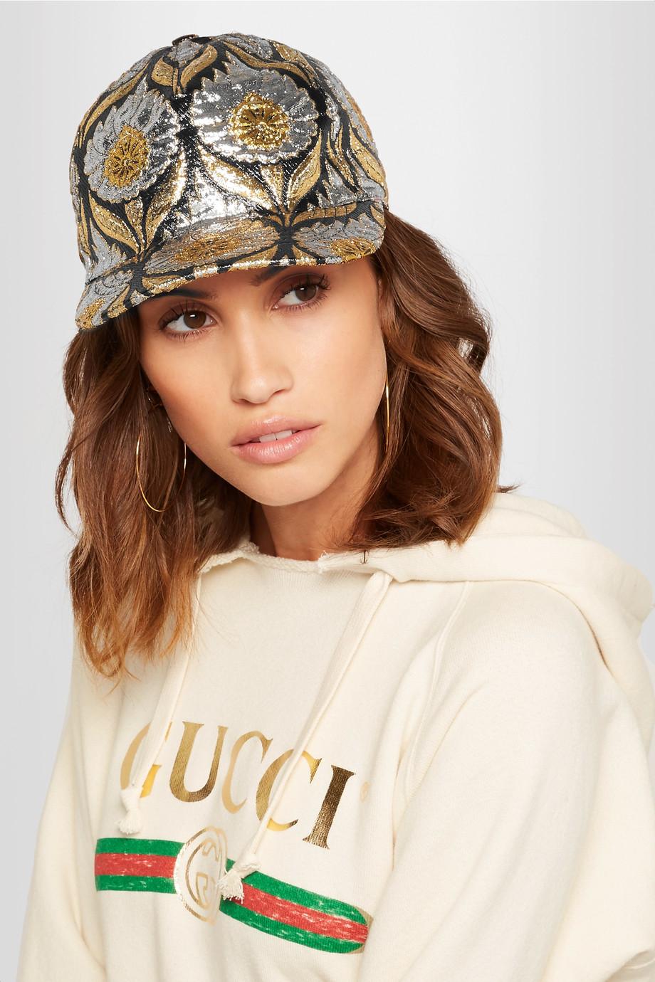 Gucci hat on model
