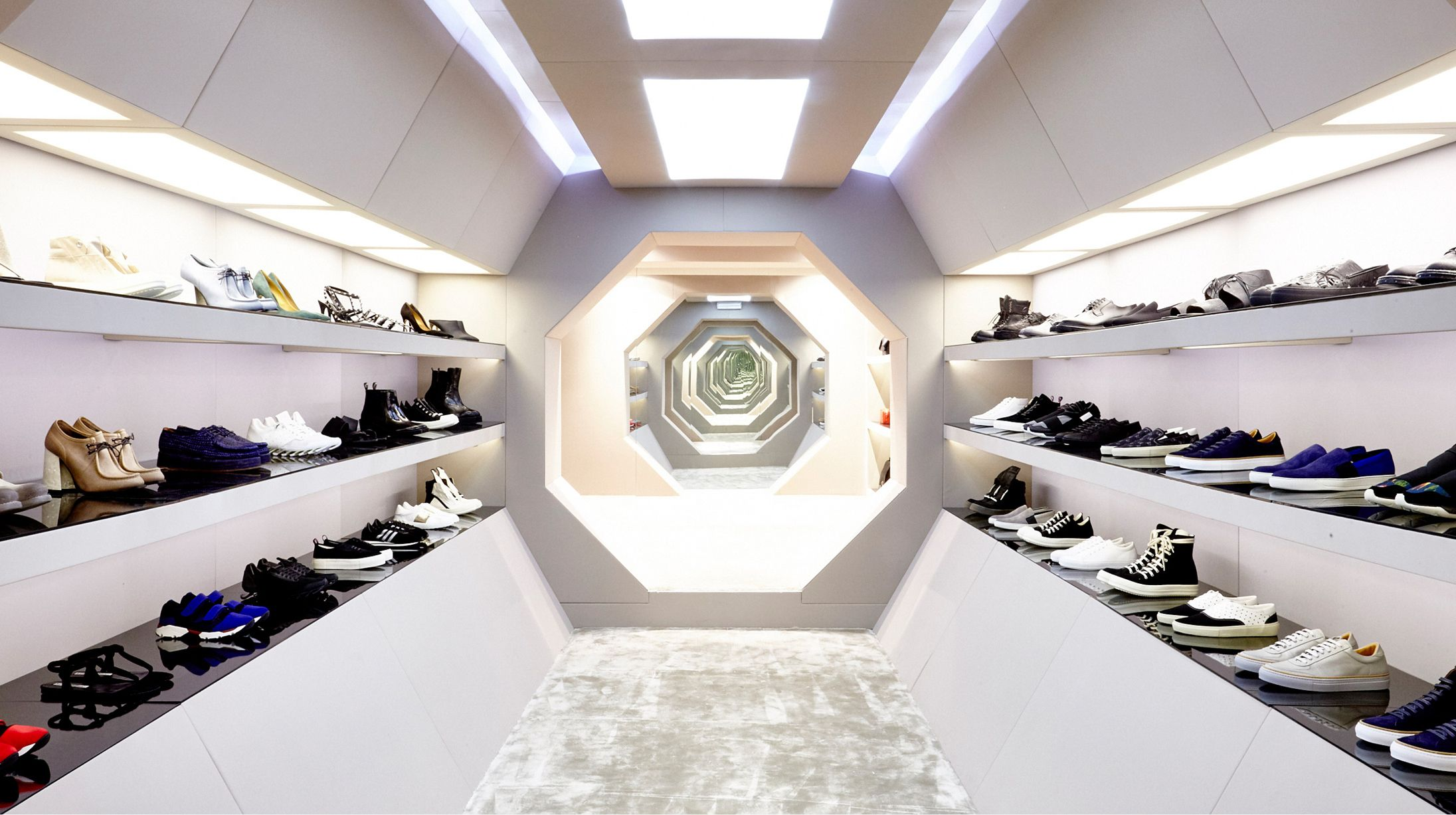a store that looks like a spaceship