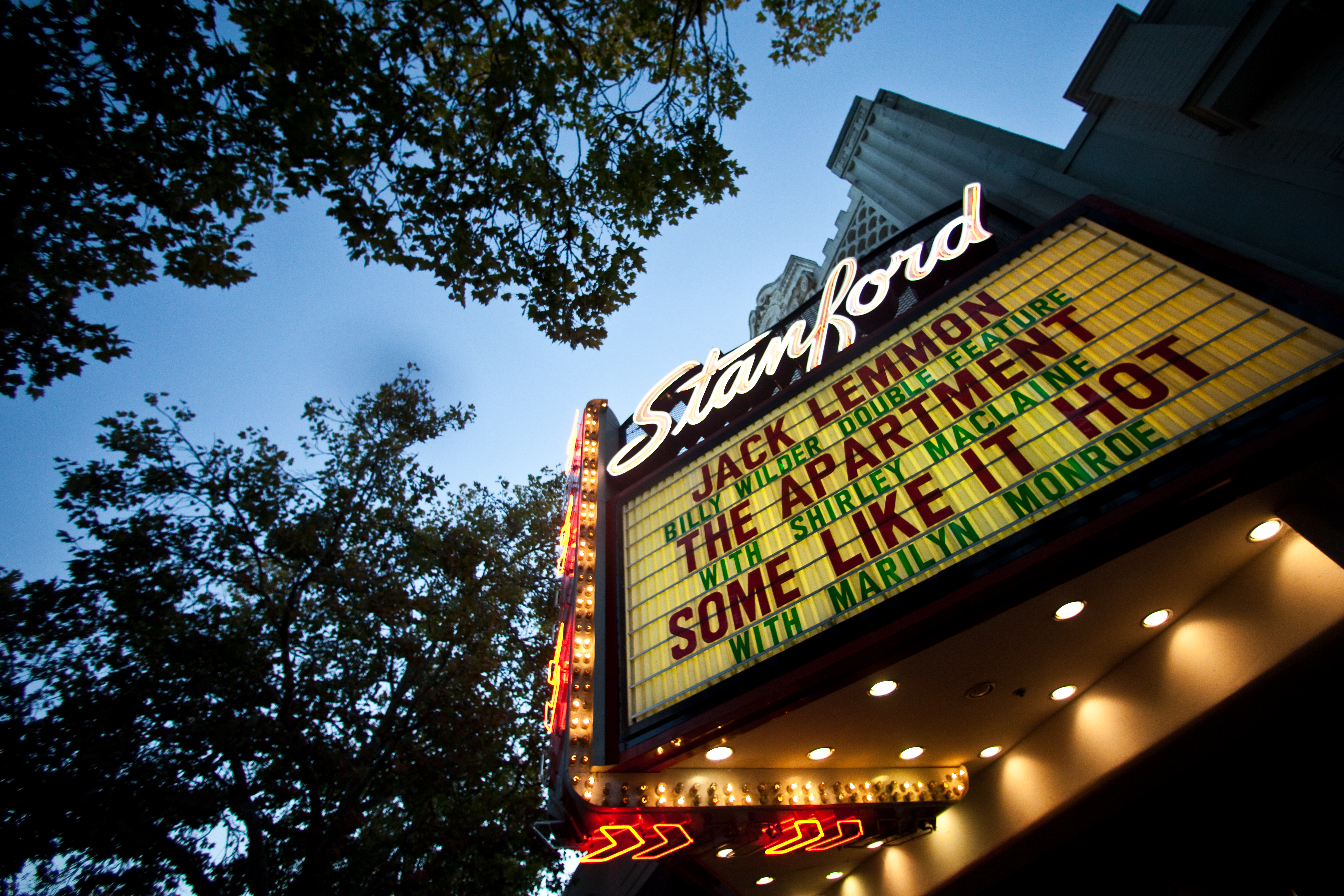 Marquee of Stanford Theater