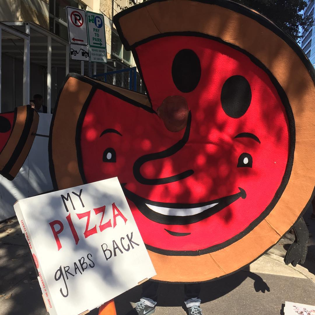 Home Slice at the Women's March in Austin