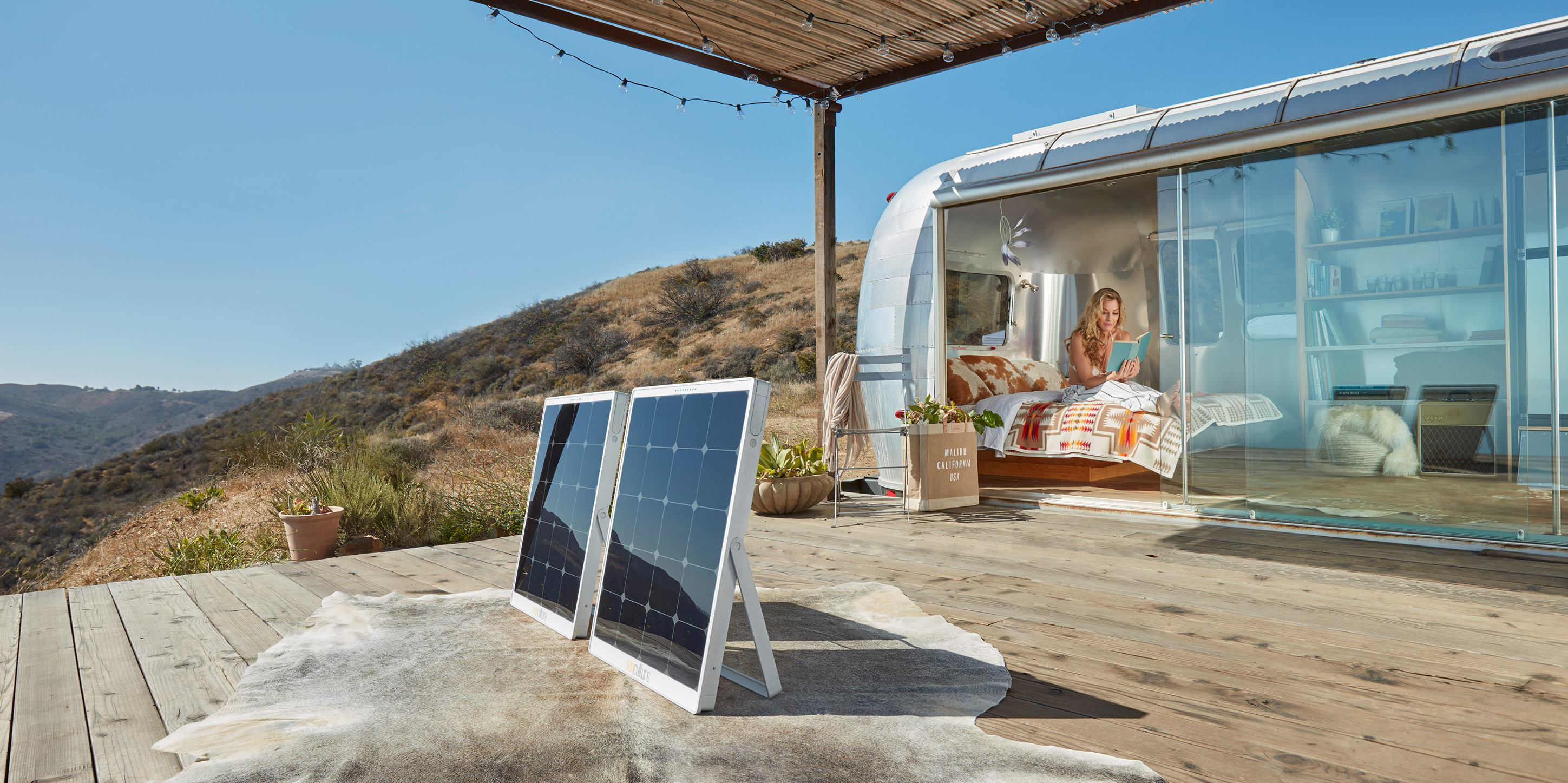 Portable solar panel and battery brings clean energy on the go