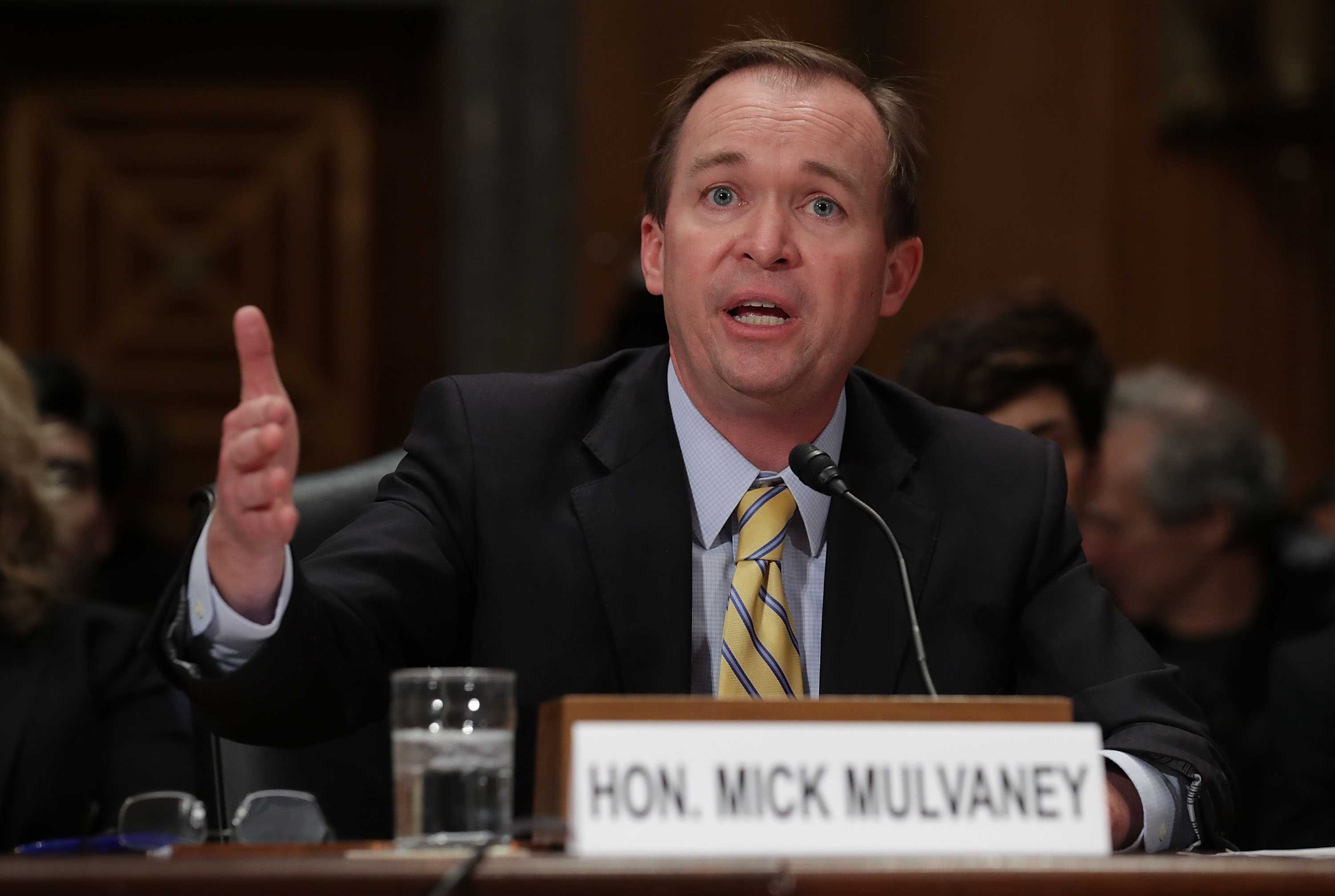 Rep. Mick Mulvaney Attends Senate Confirmation Hearing For Him To Be Director Of Office Of Management And Budget