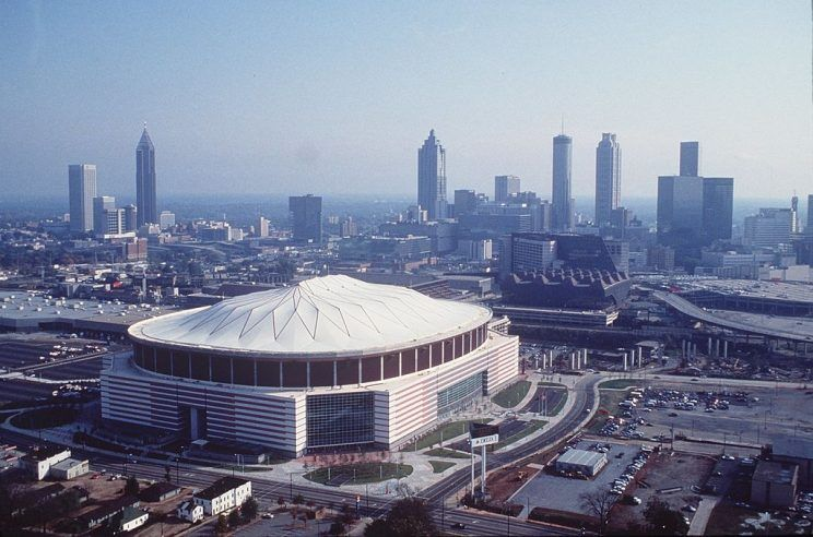 The Georgia Dome as pictured in the 1990s.