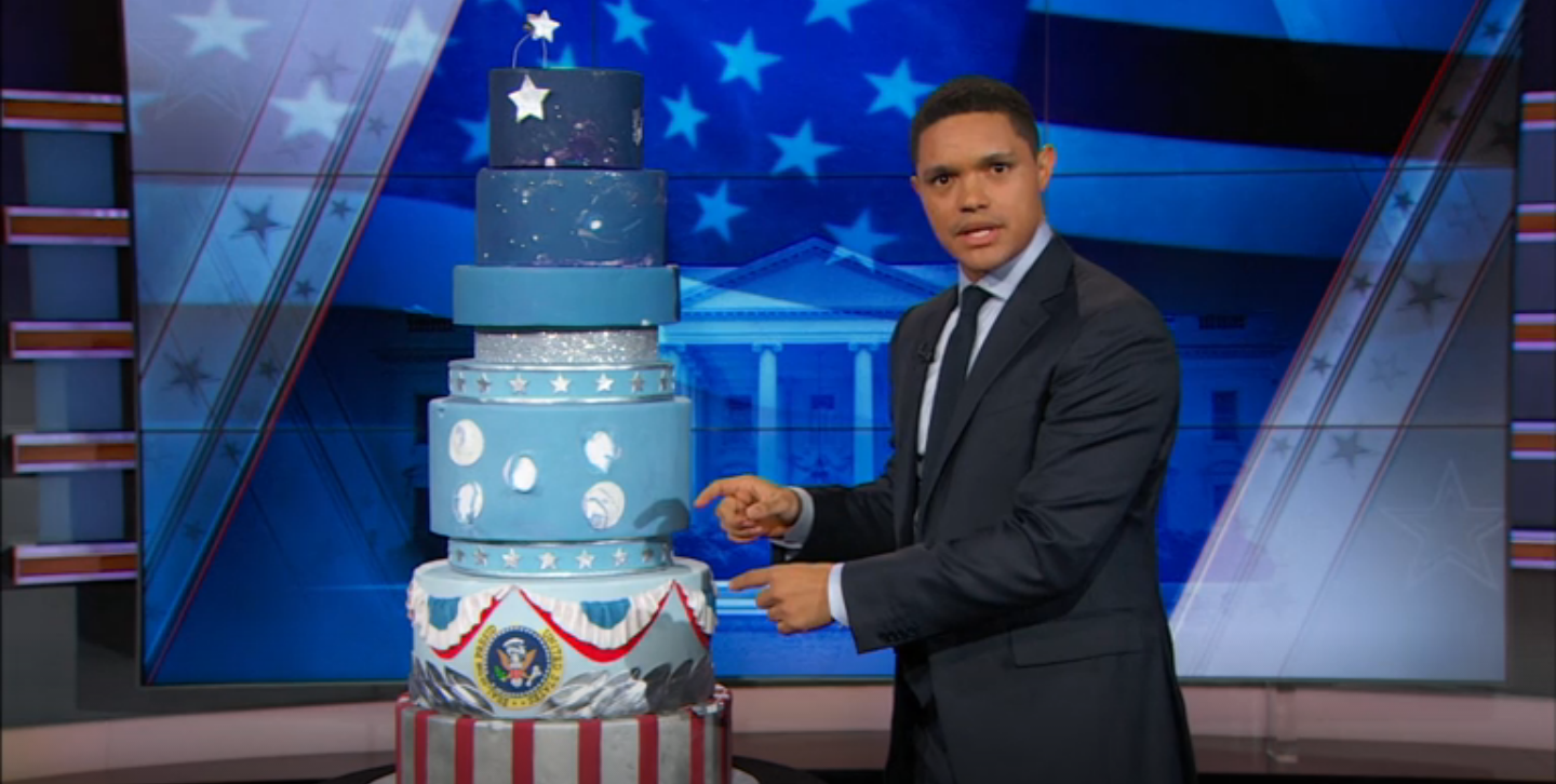 What Should Trevor Noah Do With the Inauguration Cake?