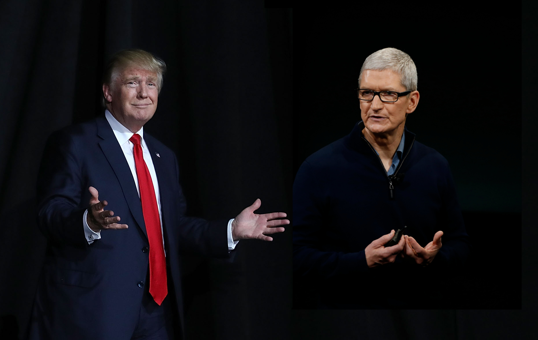 President Trump and Apple CEO Tim Cook