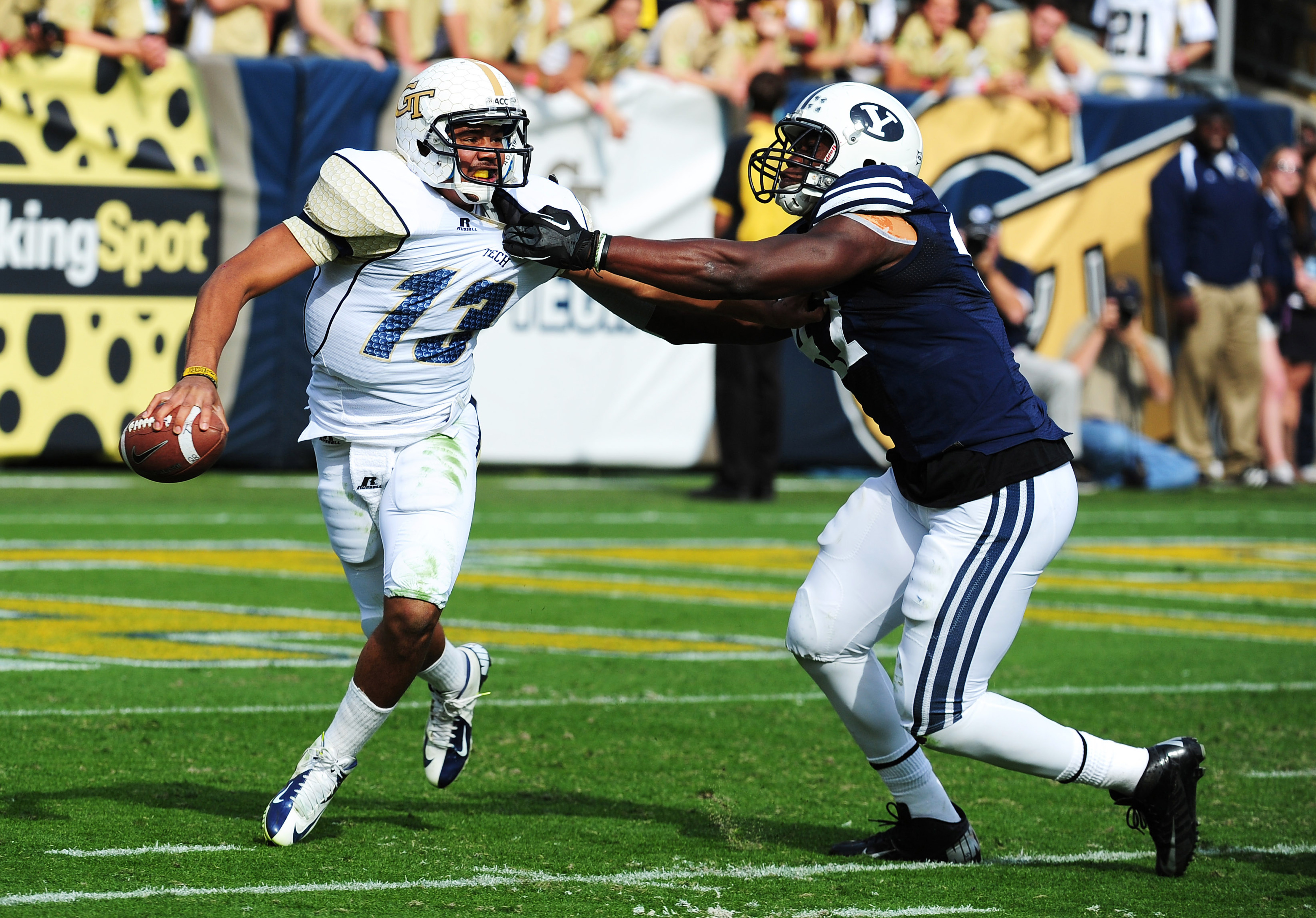Ezekiel Ansah of BYU (right) is a player to remember