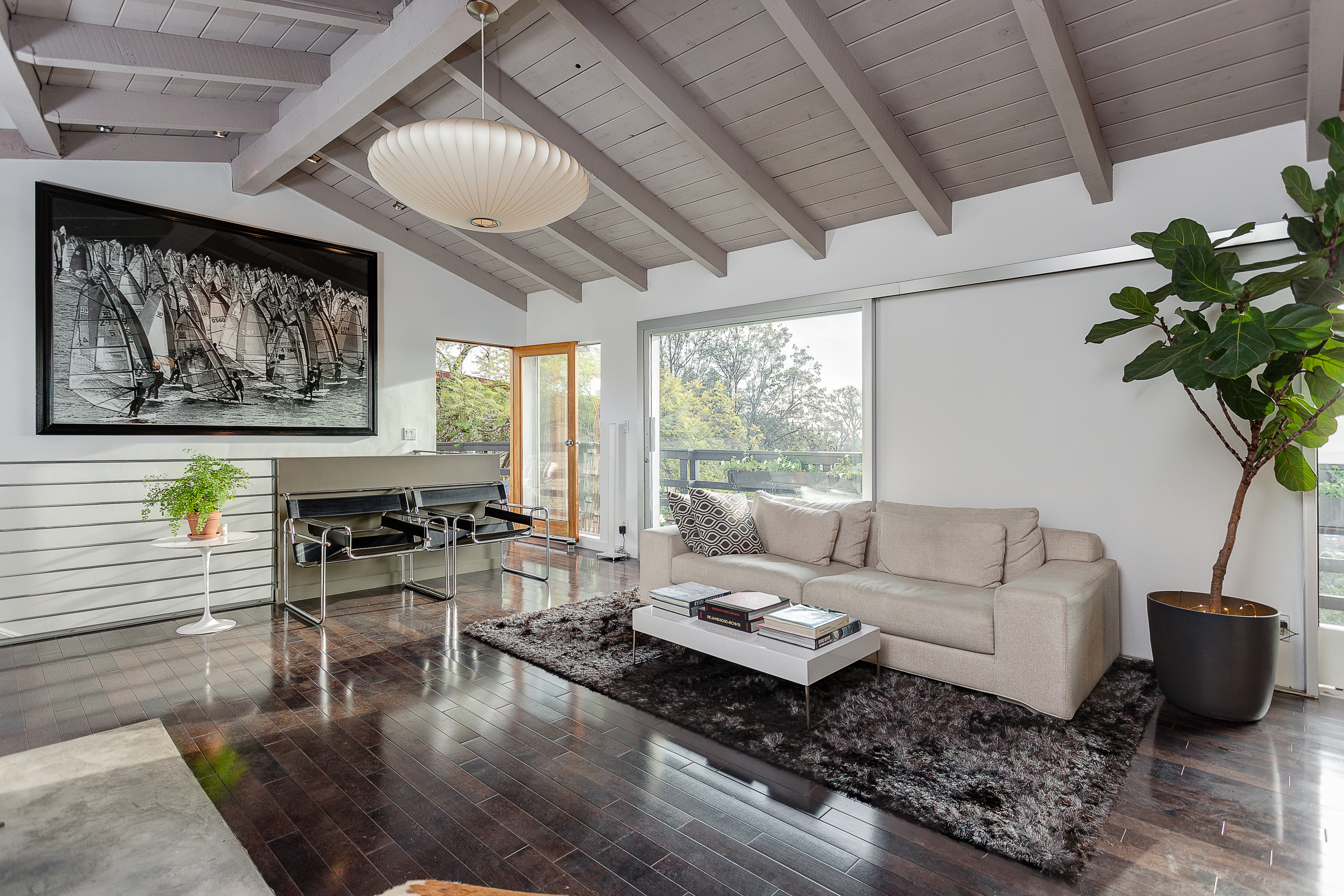 For $1.395M, a post and beam with contemporary finishes in Hollywood Dell