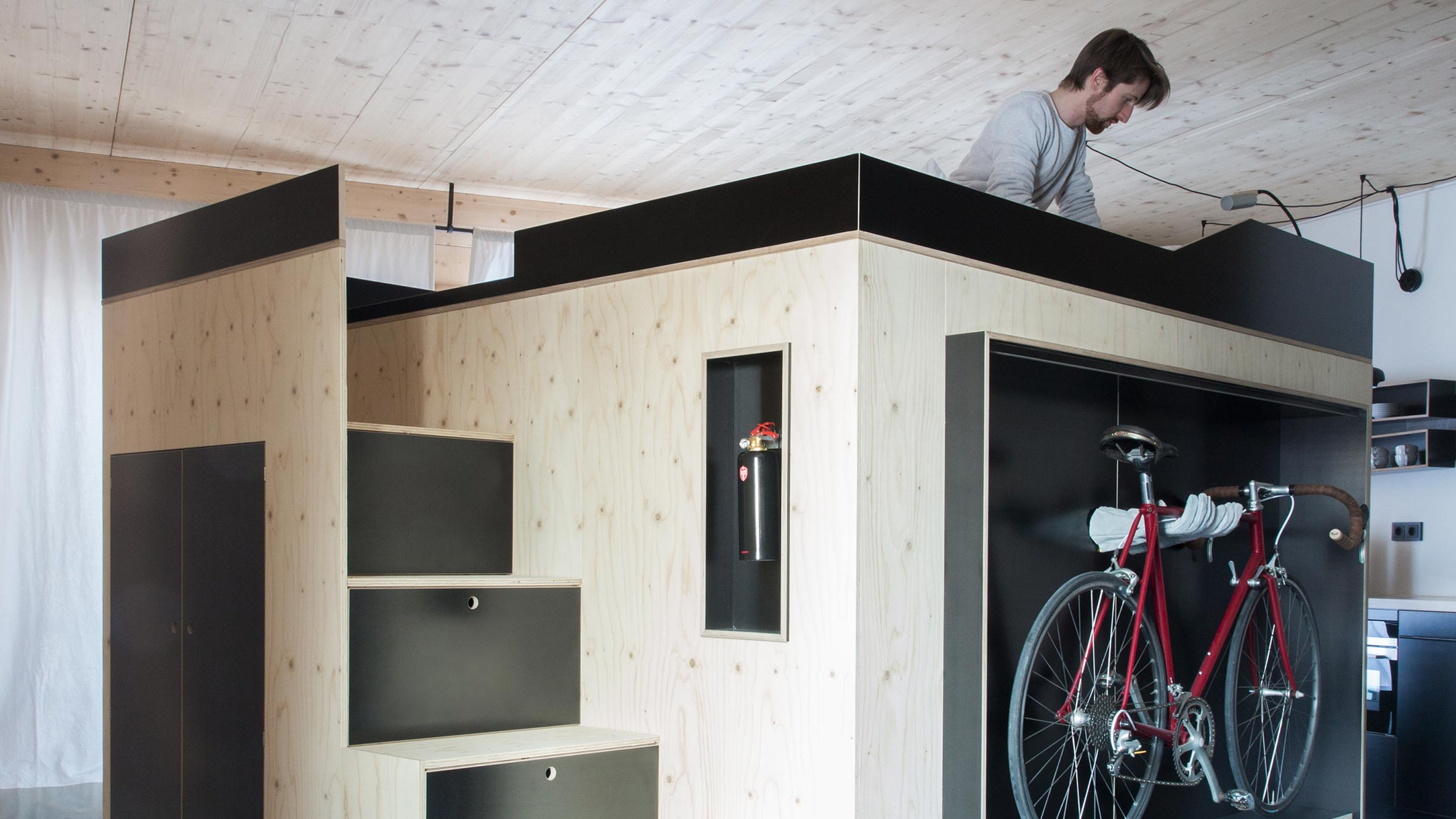All-in-one furniture cube is perfect for micro apartments