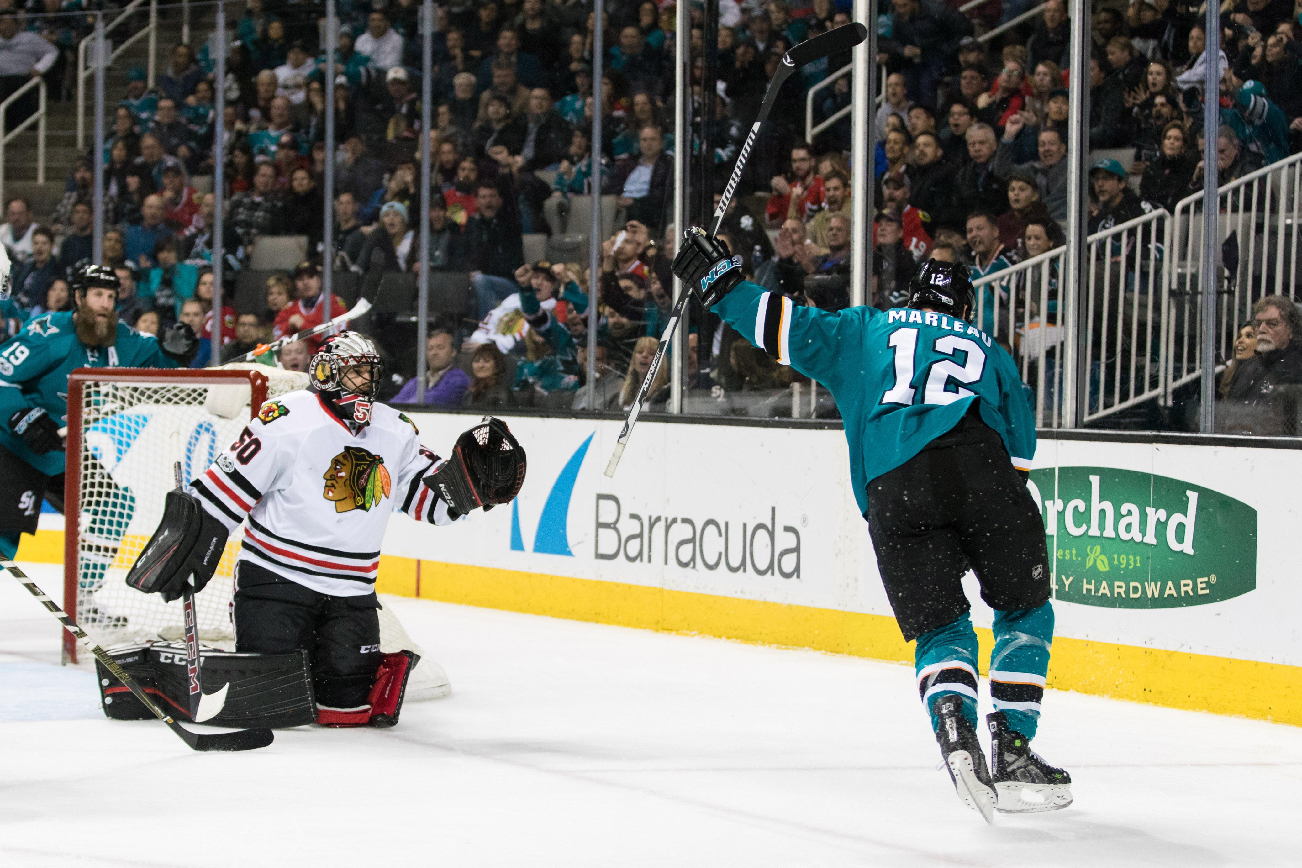 NHL: Chicago Blackhawks at San Jose Sharks