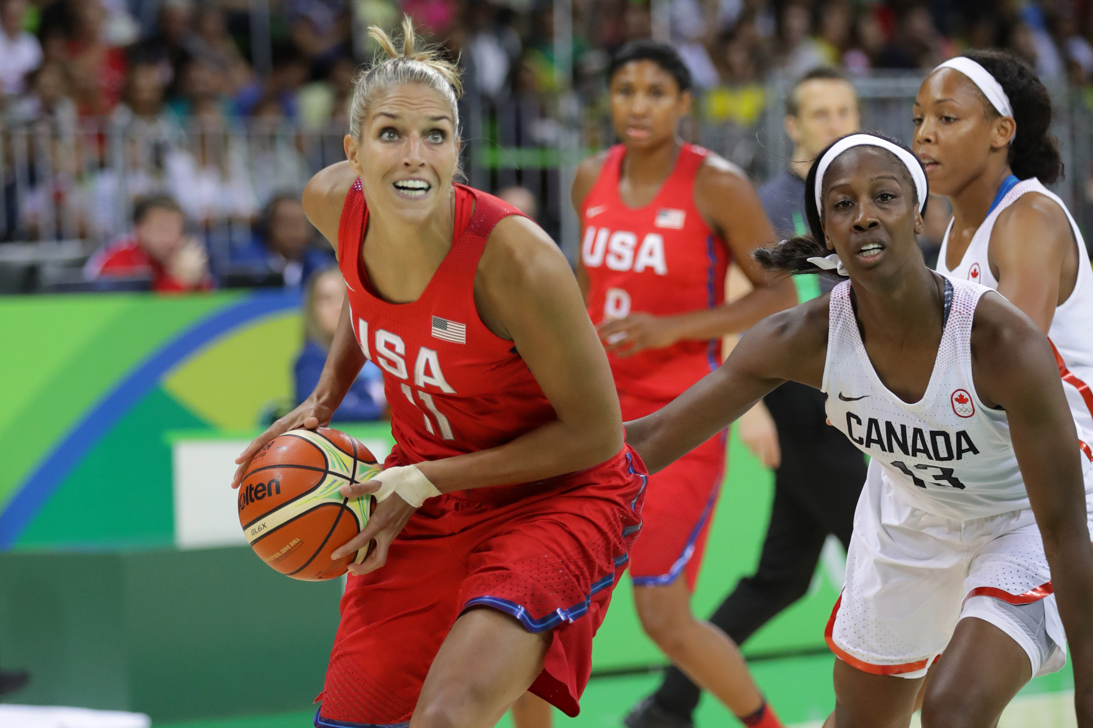 Olympics: Basketball-Women's Team-Preliminary Round CAN vs USA
