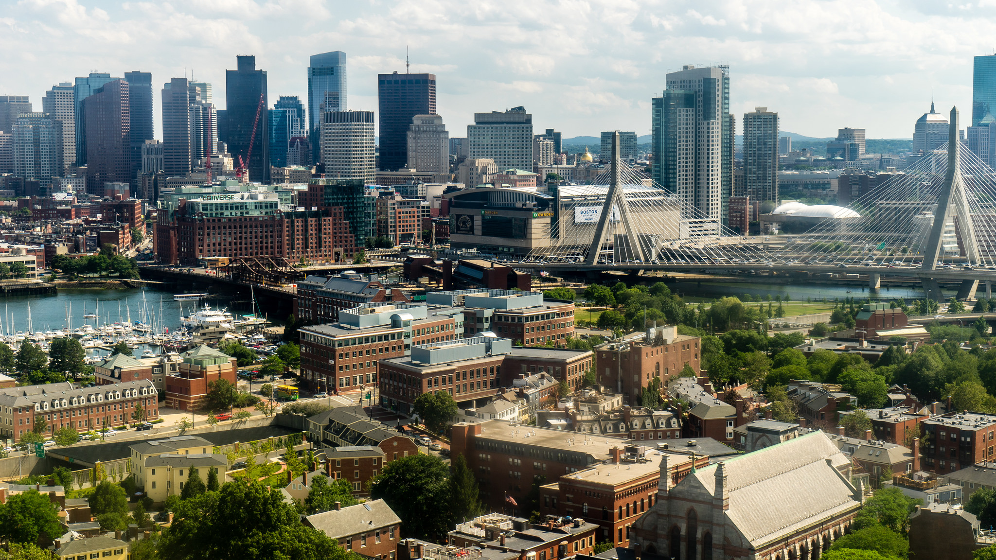 A view of Boston where the scum-sucking Patriots play football.