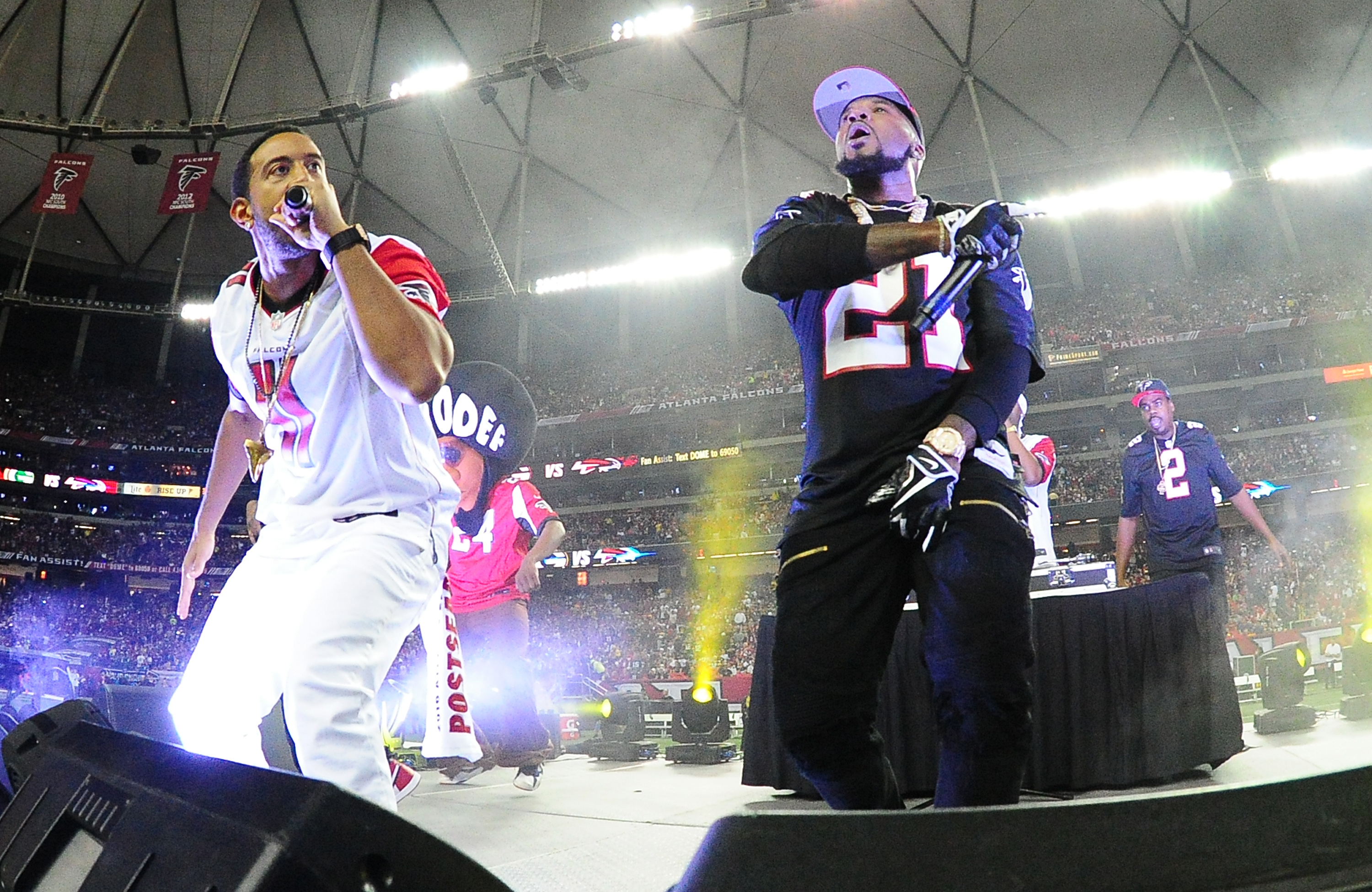 Atlanta already annihilated New England in the Super Bowl of music