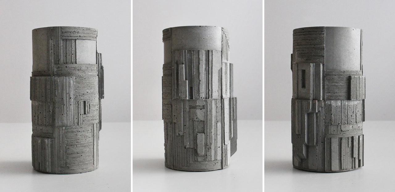 These concrete vases are a Brutalism fan's dream come true