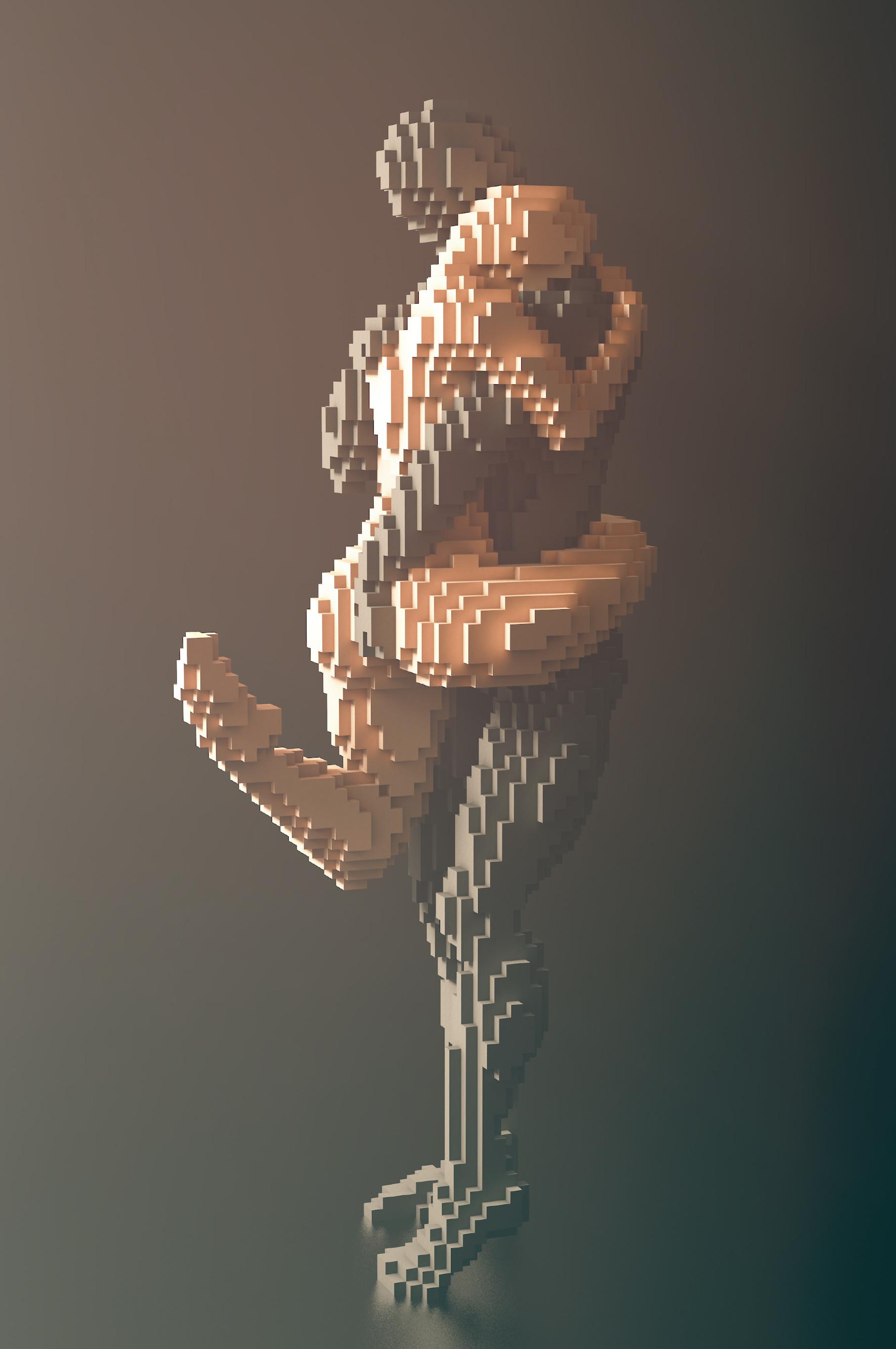 Minecraft art from Blockworks and Beautiful Minecraft