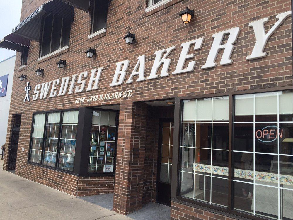 The iconic Swedish Bakery storefront on Clark Street