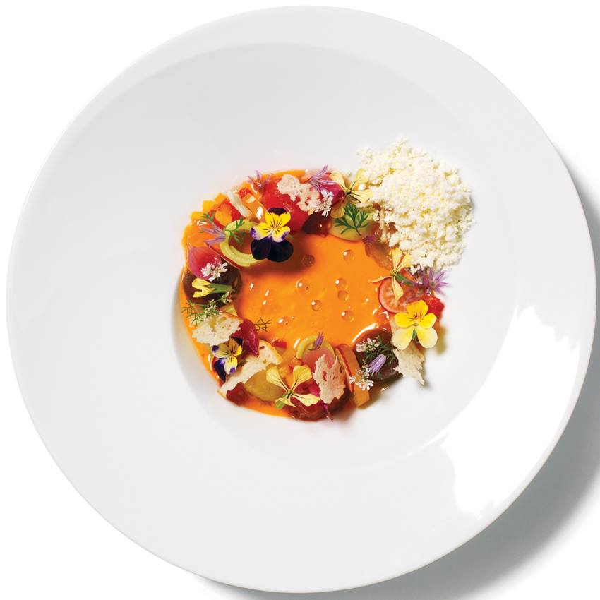 A teaser shot of heirloom tomato gazpacho from the forthcoming La Bodega