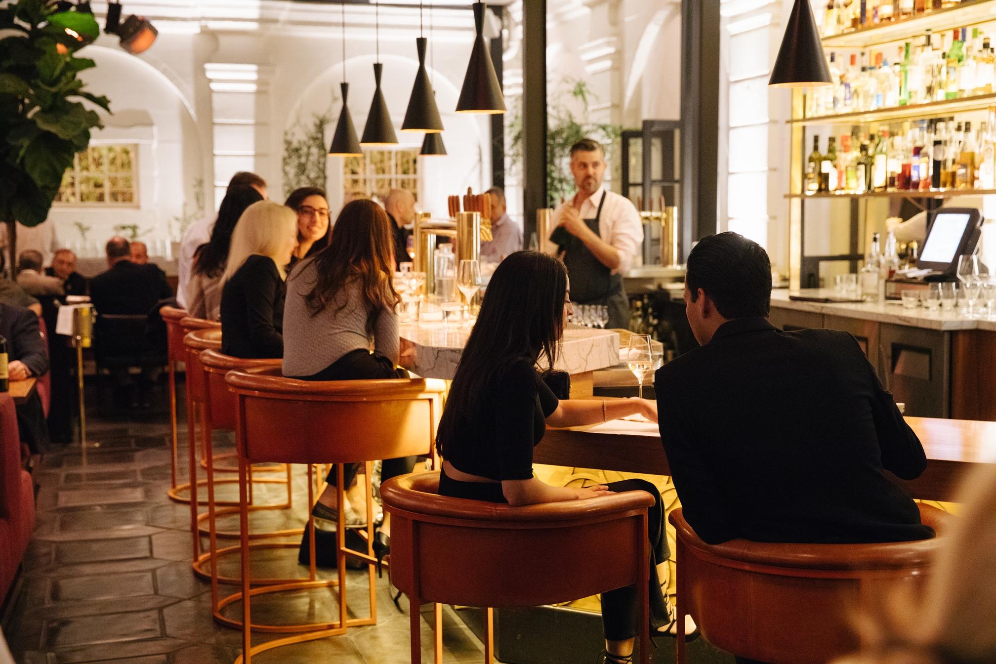The bar at Redbird