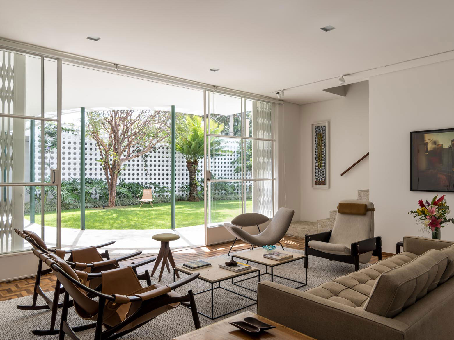 1940s modernist gem in brazil gets gorgeous restoration and expansion
