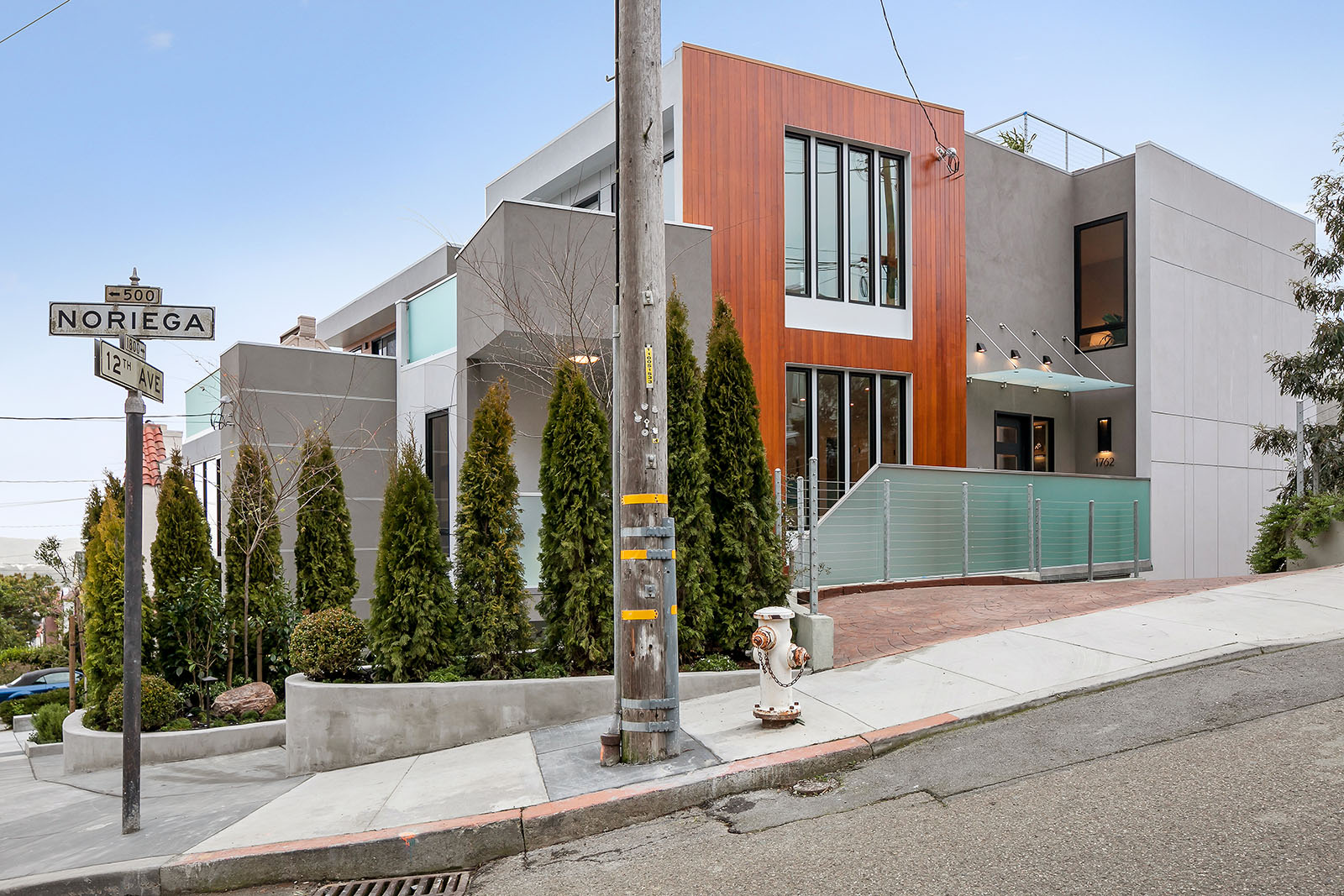 Contemporary exterior of Inner Sunset home.