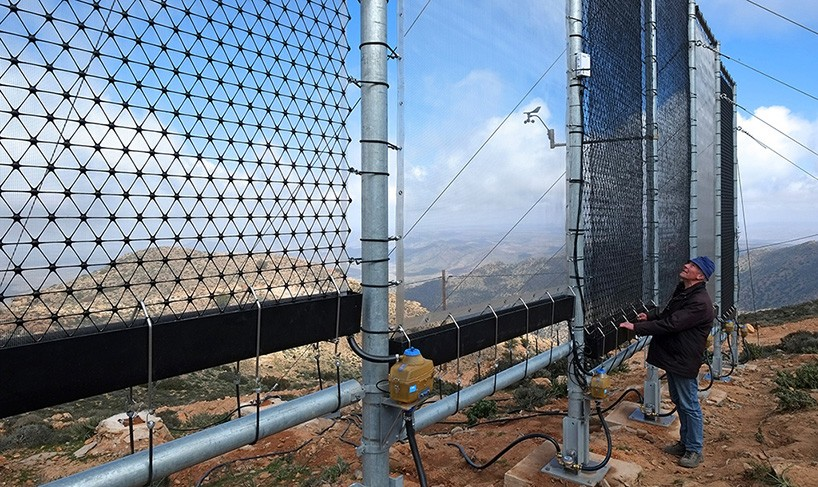 Giant net turns fog into drinking water in Morocco