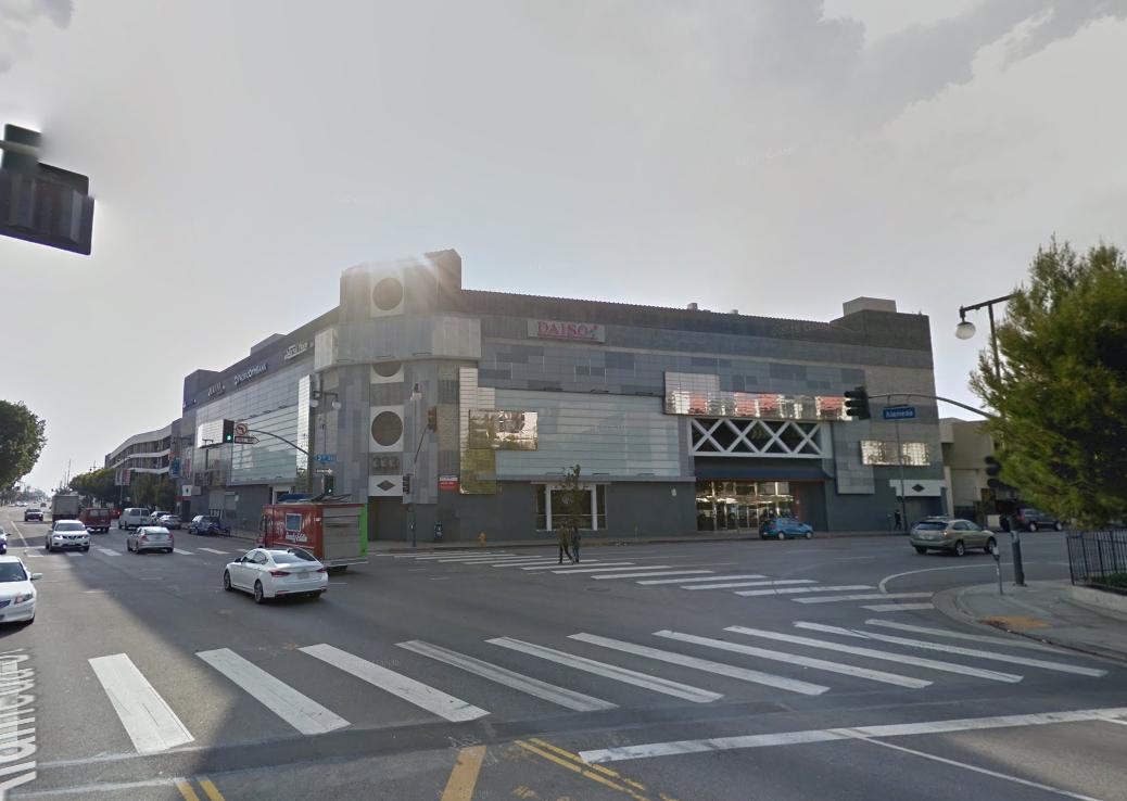 Little Tokyo Galleria from across the street