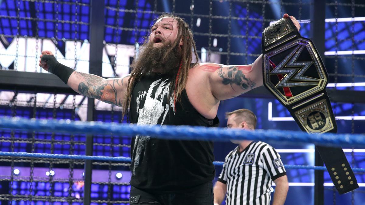 Bray Wyatt holds the WWE Championship