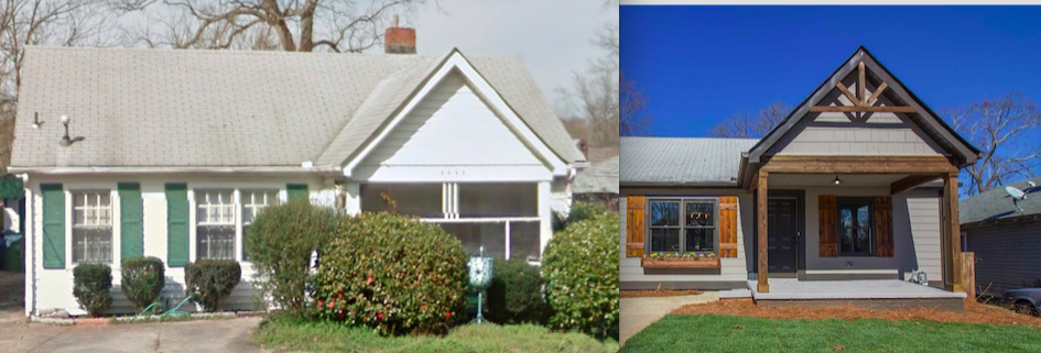 A renovated home in Edgewood, Atlanta.