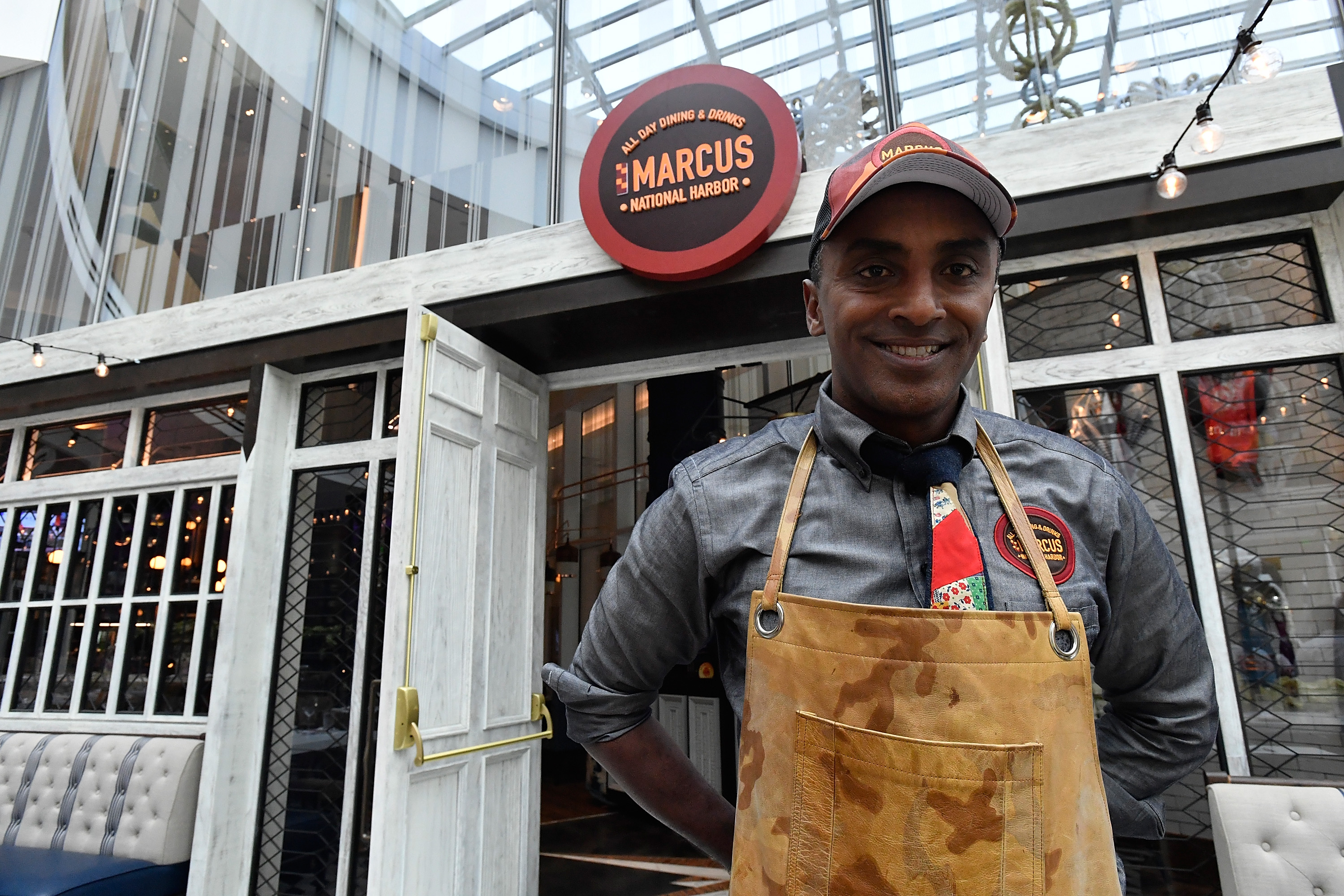 Chef Marcus Samuelsson opens MARCUS at the MGM National Harbor Grand Opening Celebration on December 8, 2016 in National Harbor, Maryland.