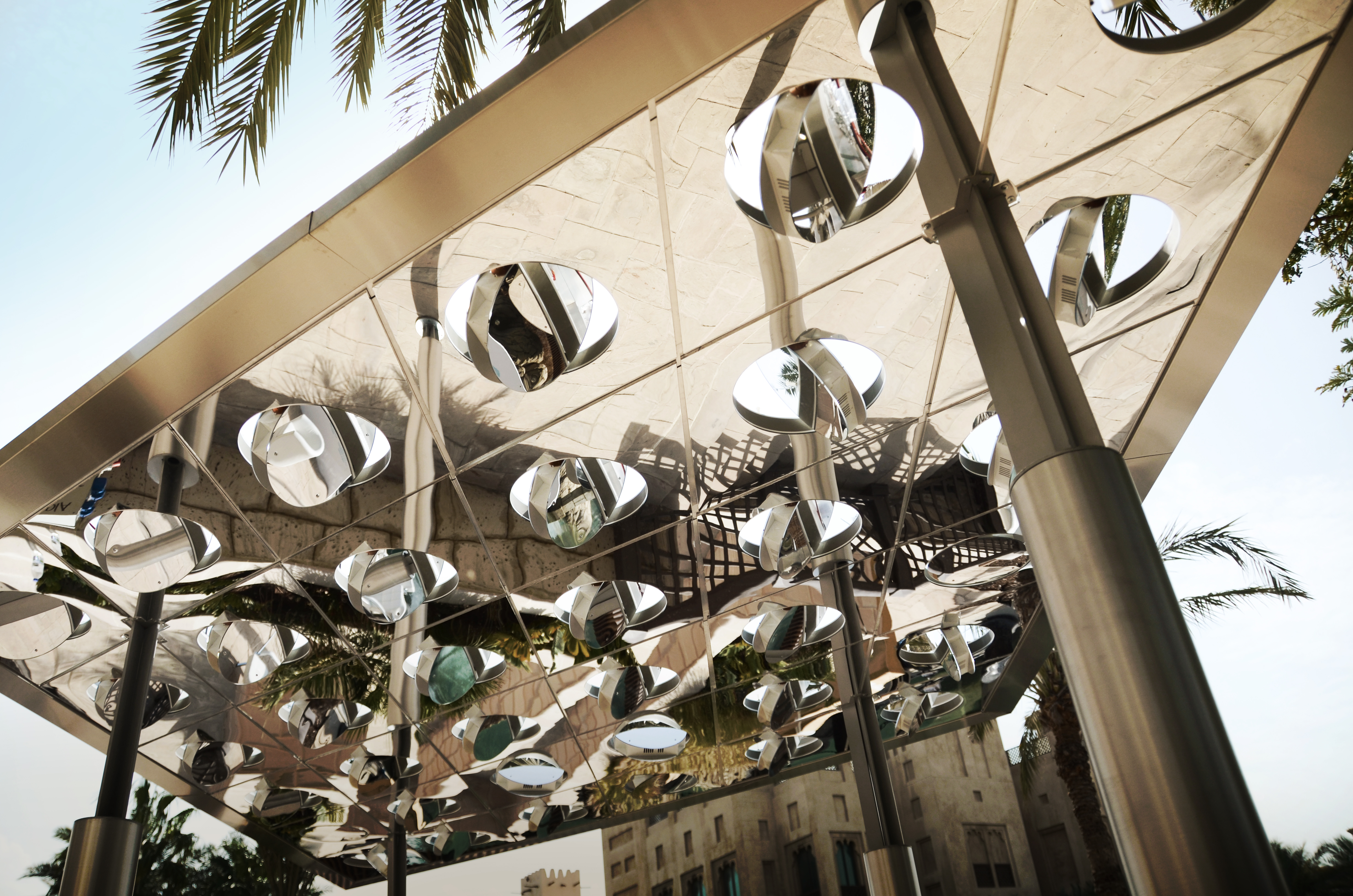 High-tech canopy helps generate solar power while providing shade