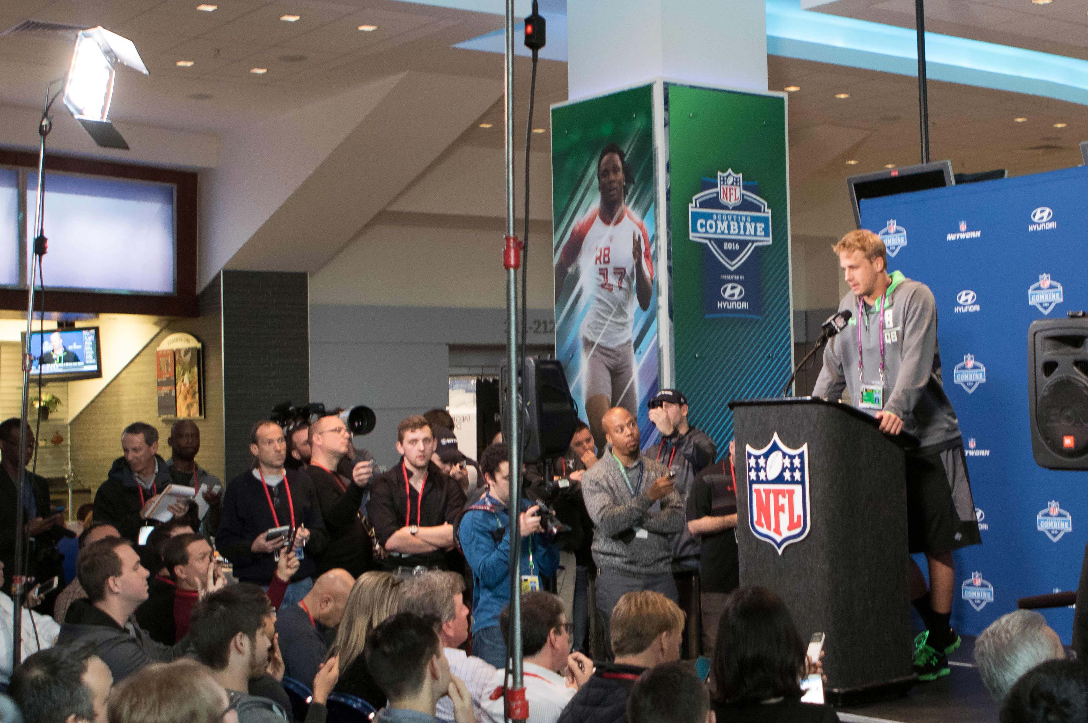 LA Rams QB Jared Goff At The 2016 NFL Scouting Combine
