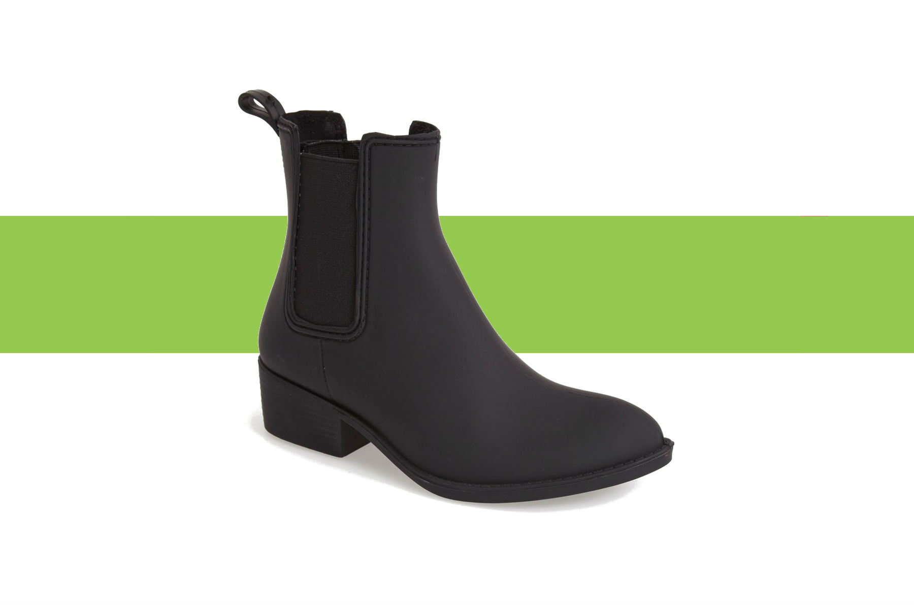 Jeffrey Campbell Stormy Chelsea Rain Boots in black
