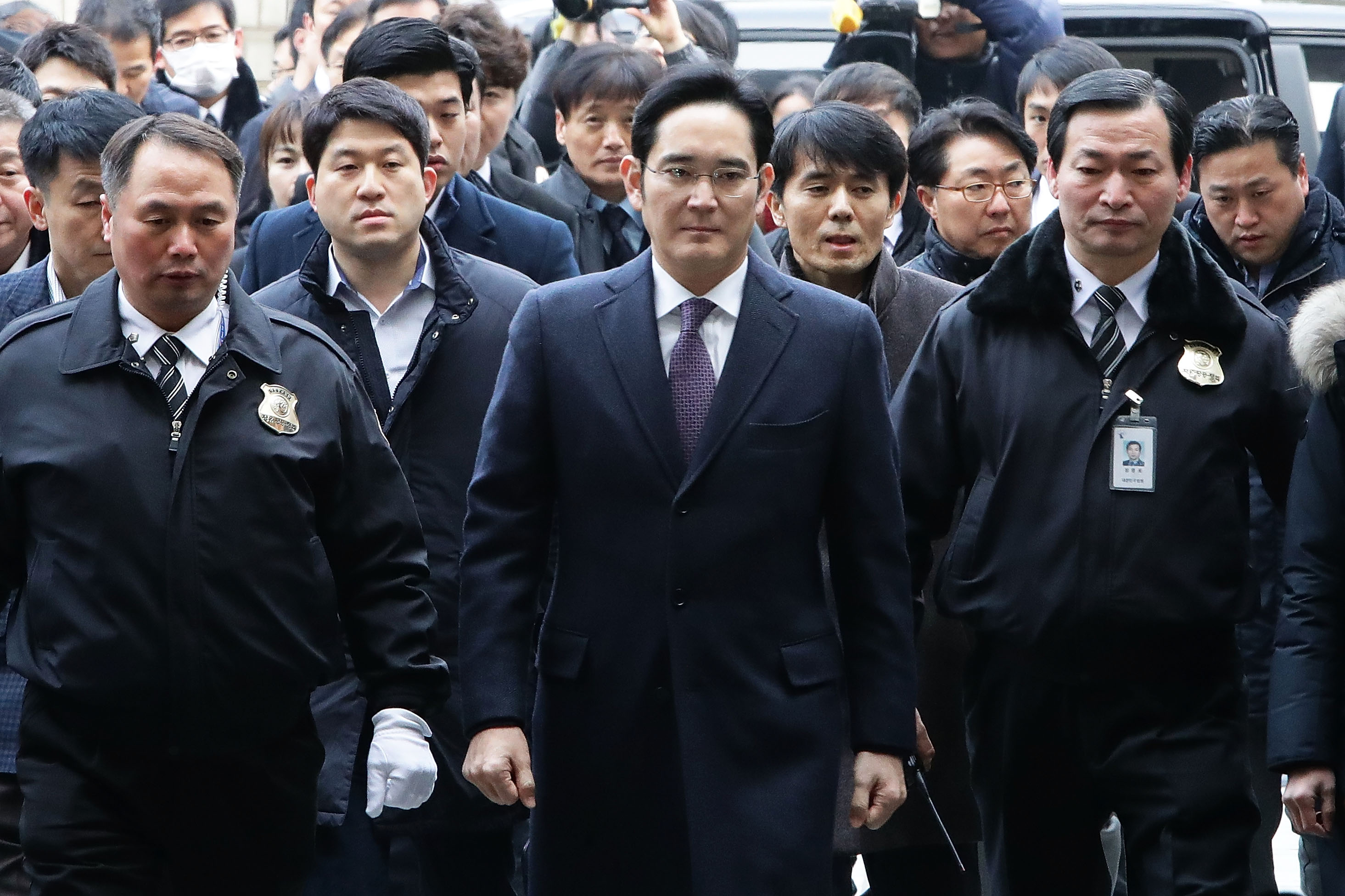 Samsung Vice Chairman Lee Jae-Yong Arrives At Court