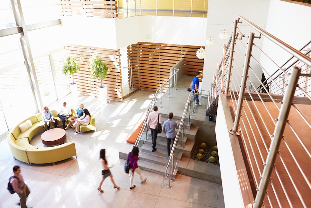 modern office interior lobby