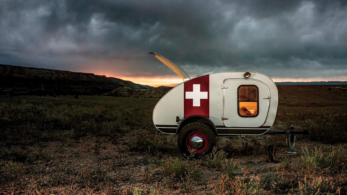 Handcrafted trailer takes vintage design on the road