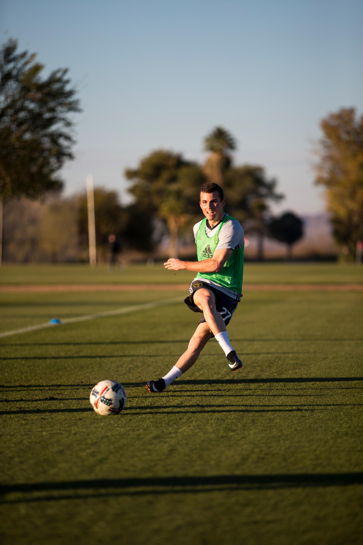 Brooks Lennon at Real Salt Lake training