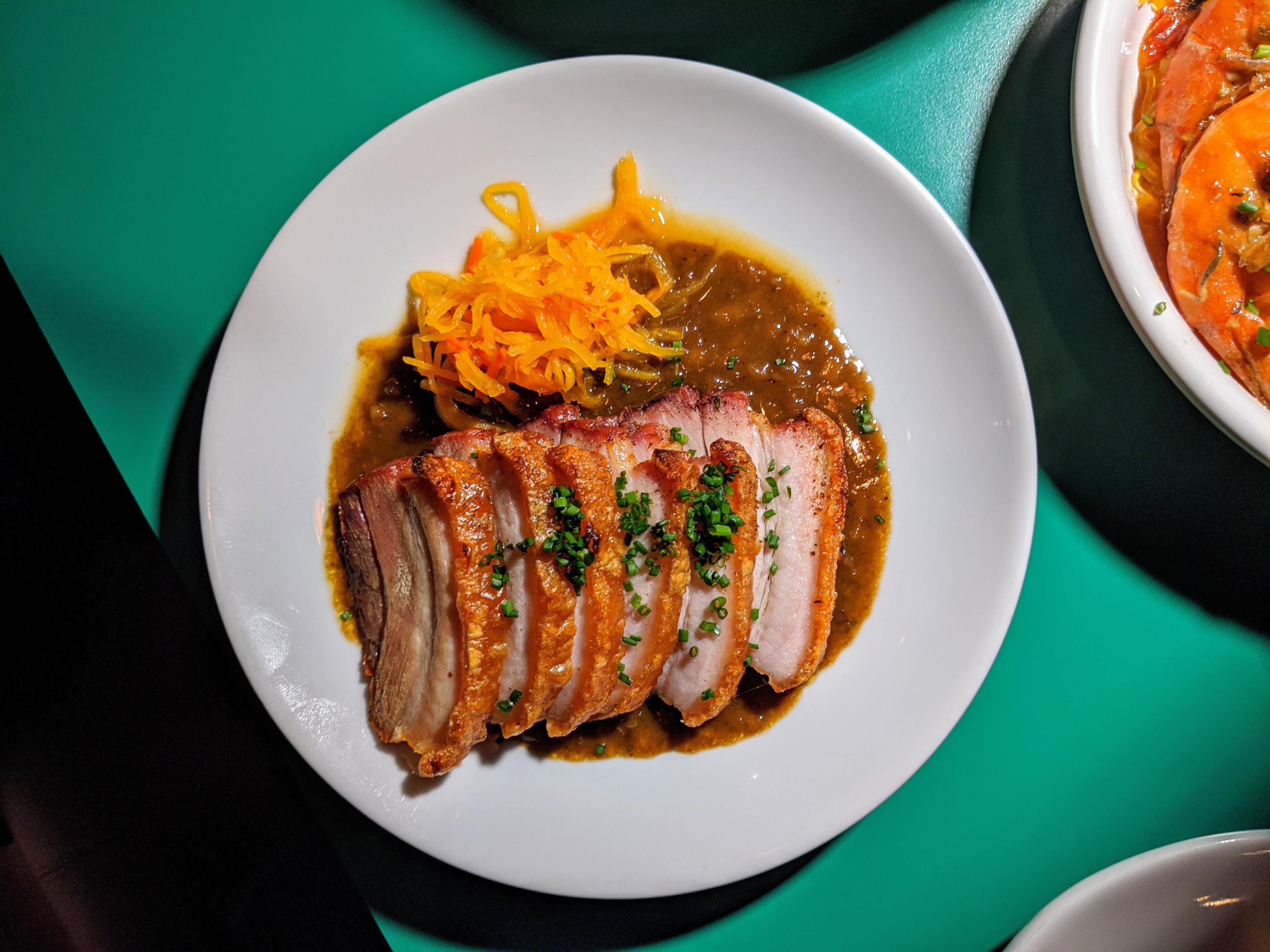 Pork belly lechon at Ma'am Sir
