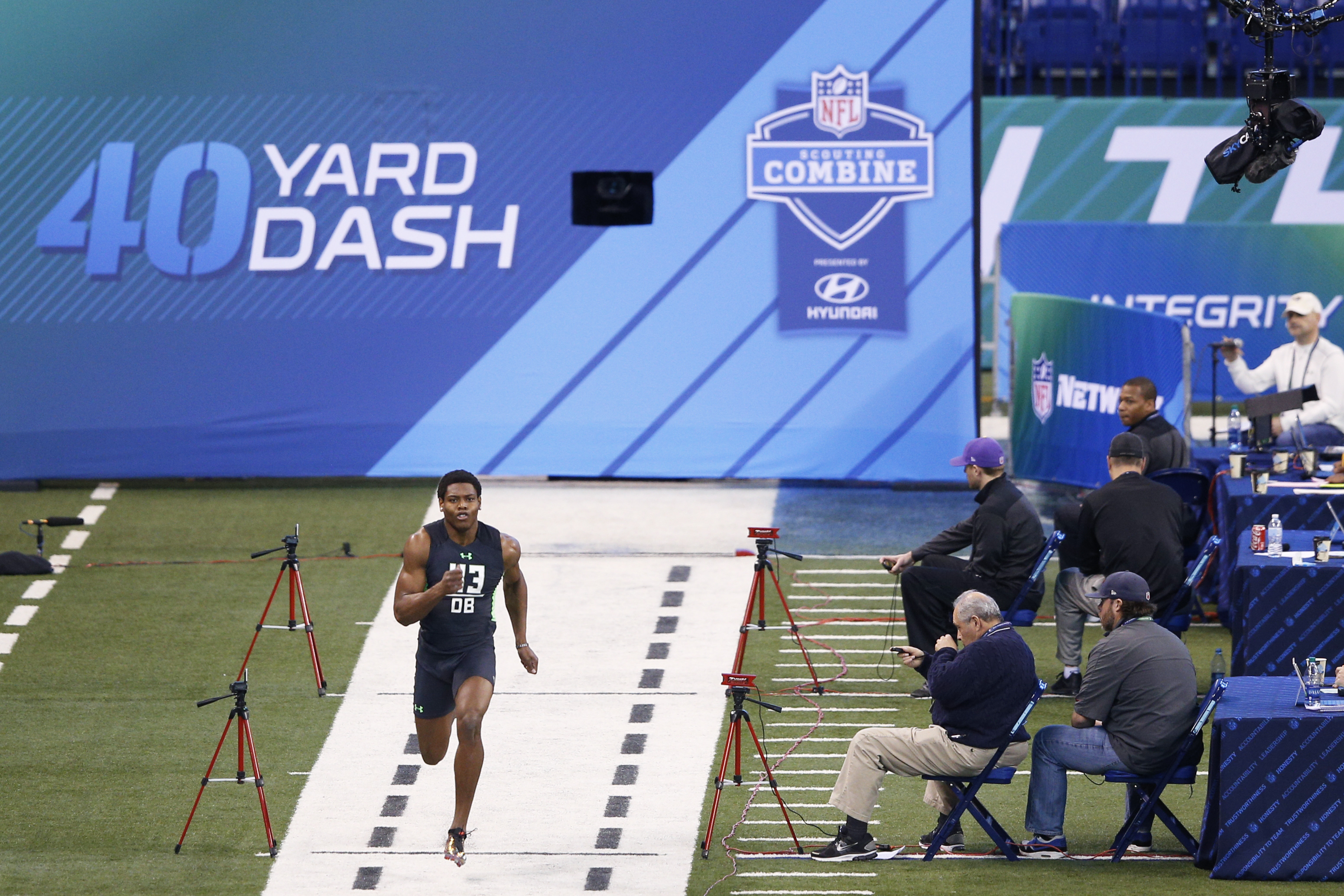 Beat Chris Johnson's 4.24 40-yard dash time, win a private island from Adidas
