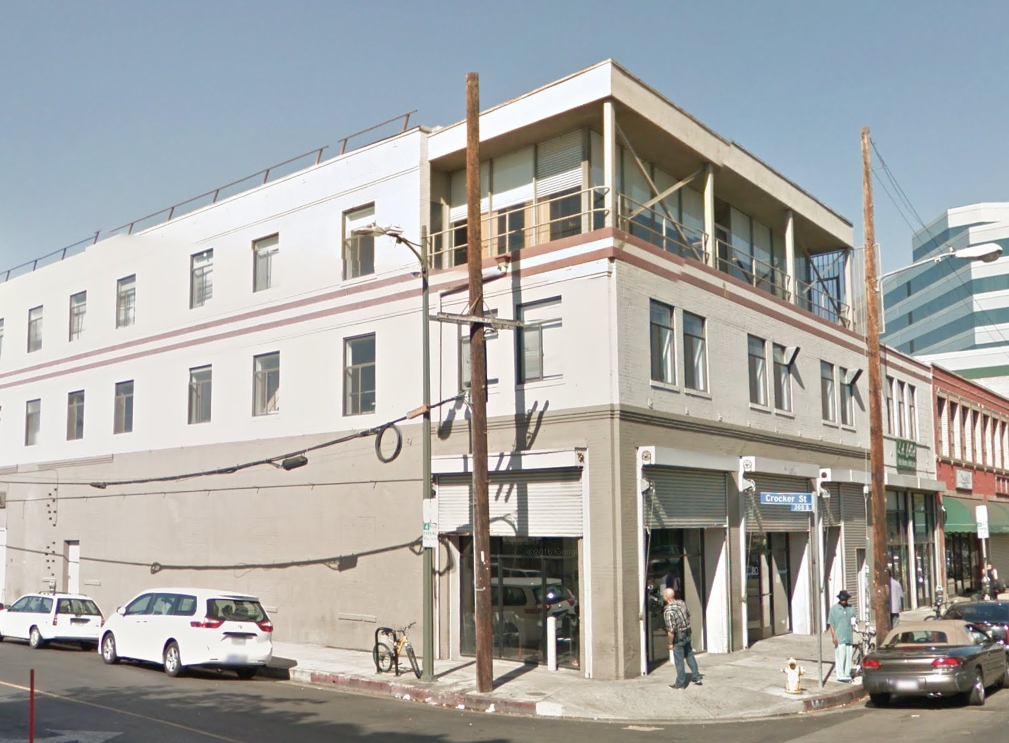 View of building at Crocker and Third