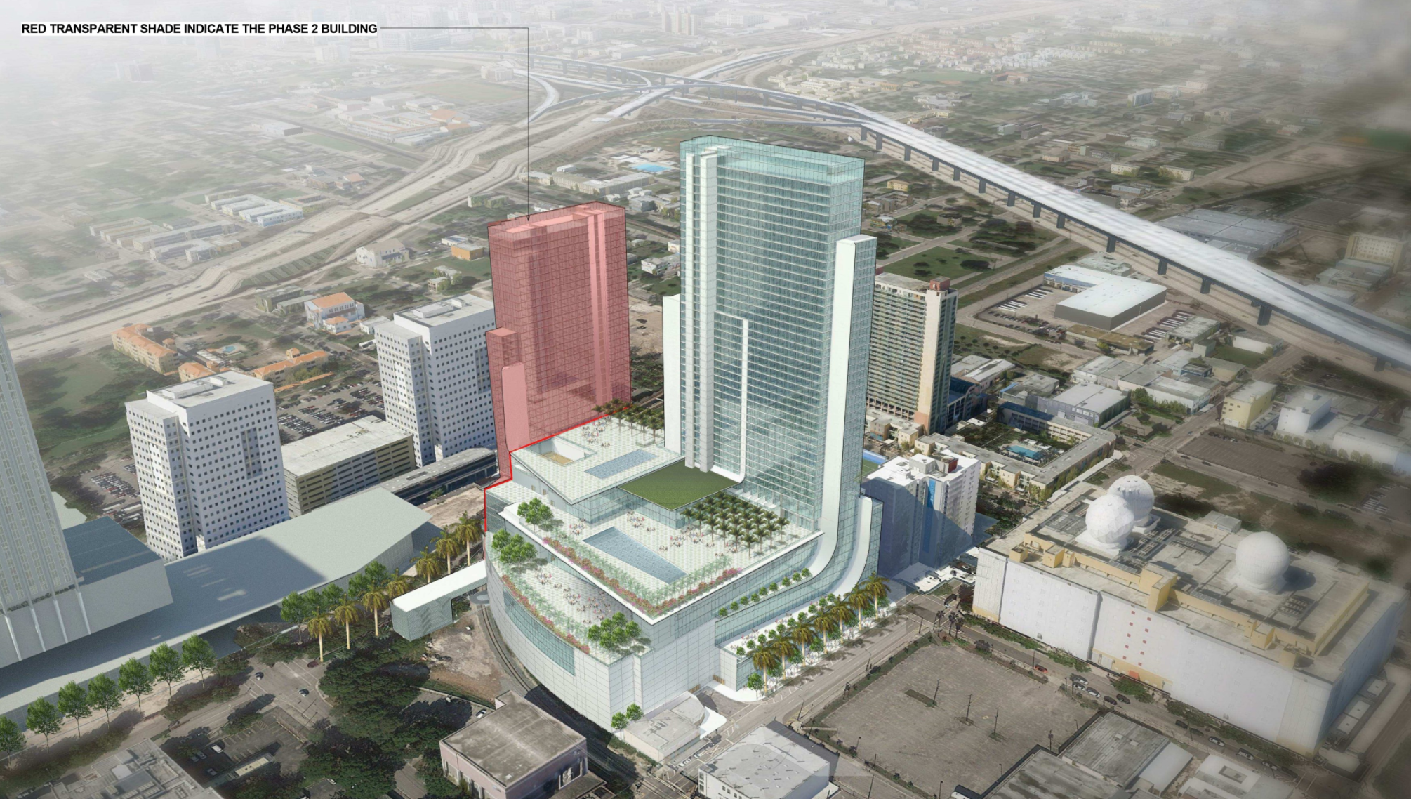 Rendering of the downtown Miami convention center expected to break ground shortly